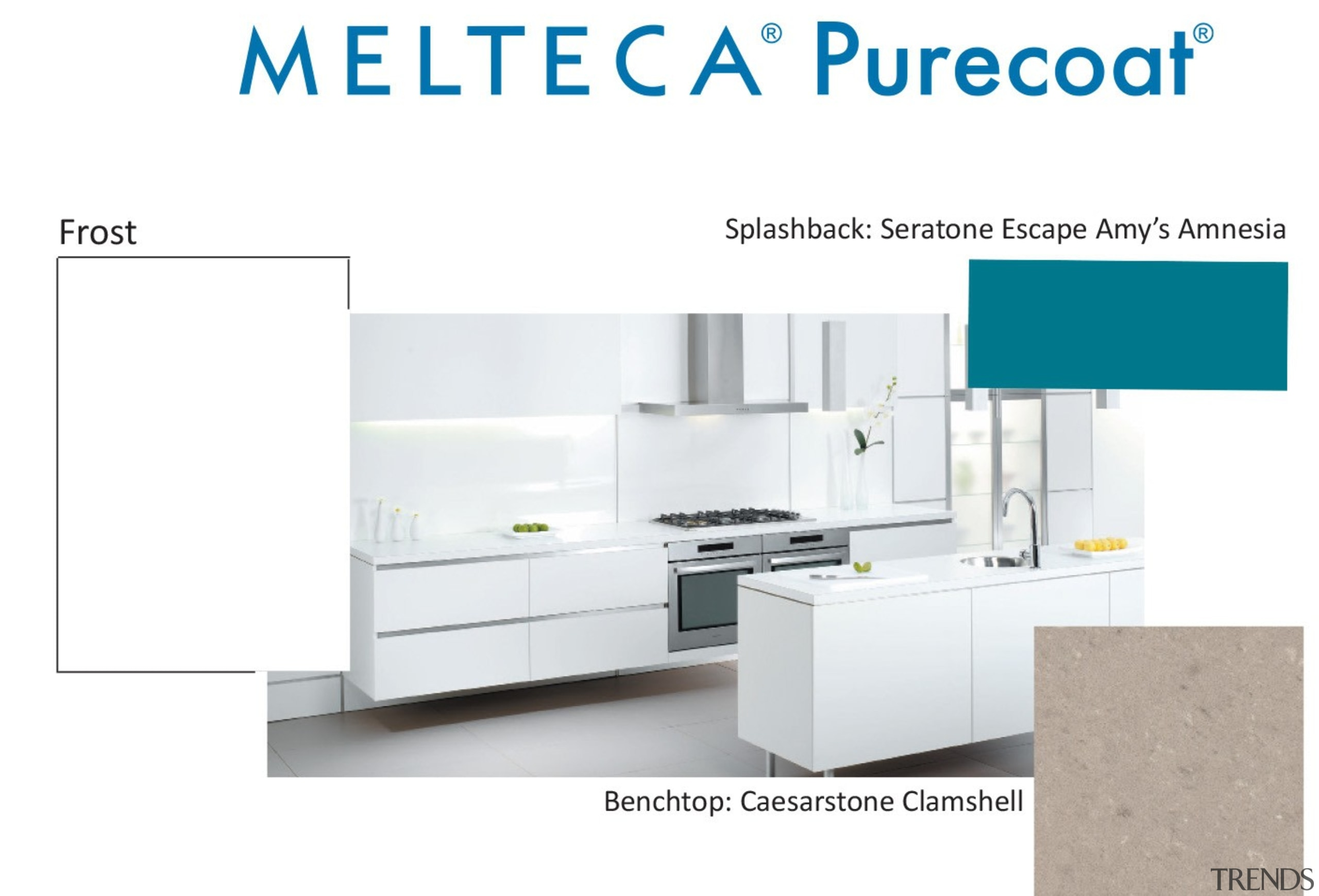 New Zealand made Melteca Purecoat surfaces utilise cutting-edge bathroom accessory, furniture, kitchen, line, product, product design, table, white