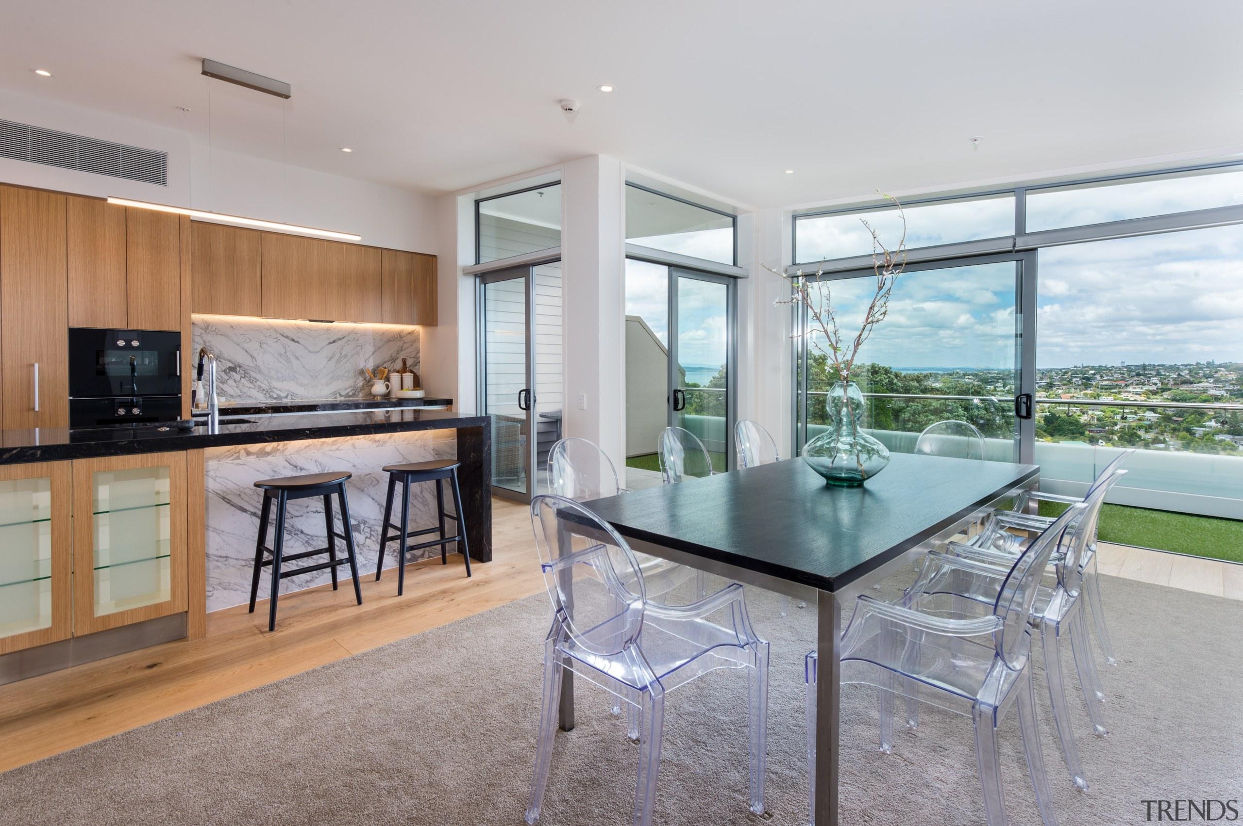Kitchen with seaview - Kitchen with seaview - house, interior design, kitchen, real estate, gray