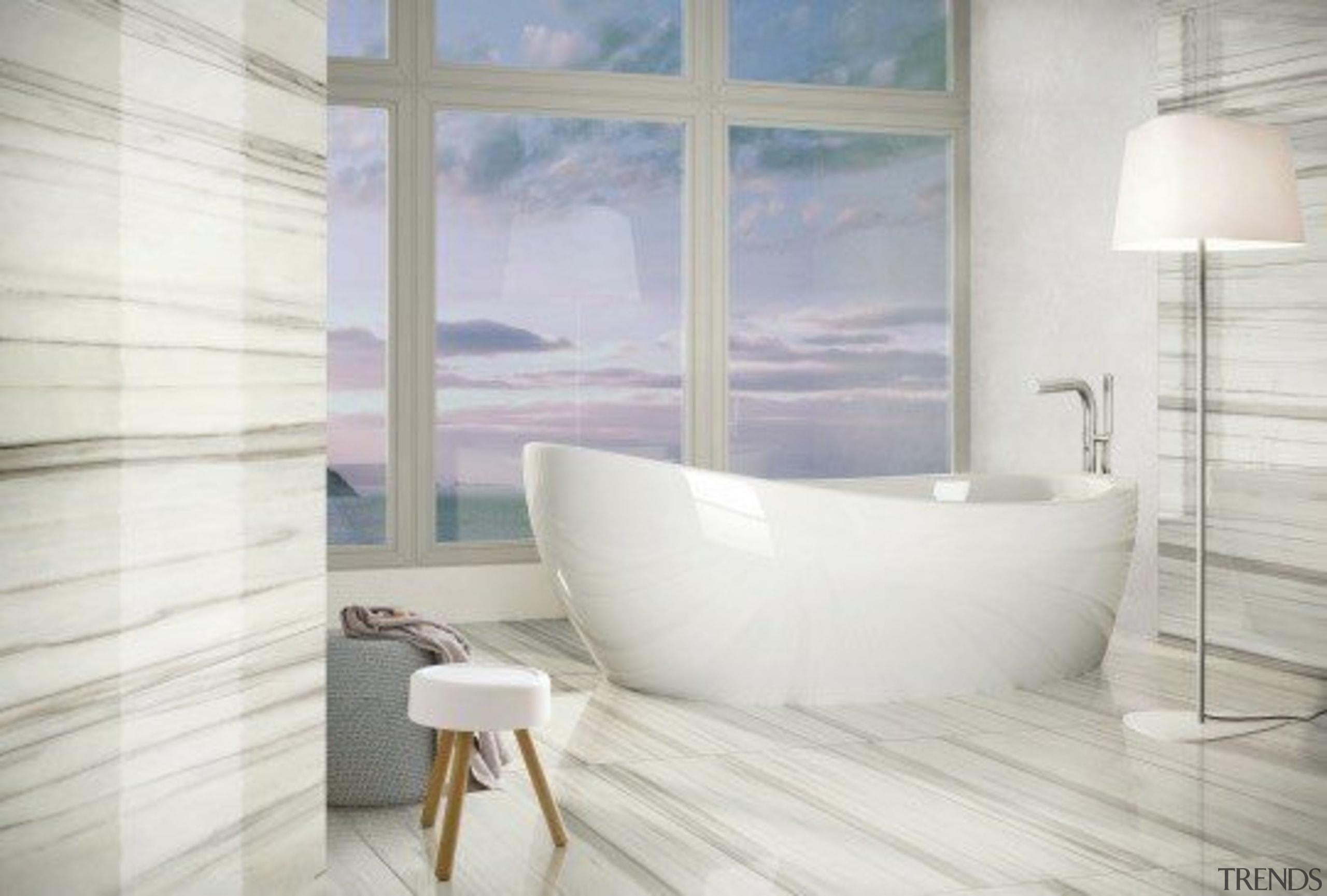 Marmo Zebrino - Marmo Zebrino - bathroom | bathroom, ceramic, floor, flooring, home, interior design, plumbing fixture, product design, room, tap, tile, toilet seat, wall, window, white, gray