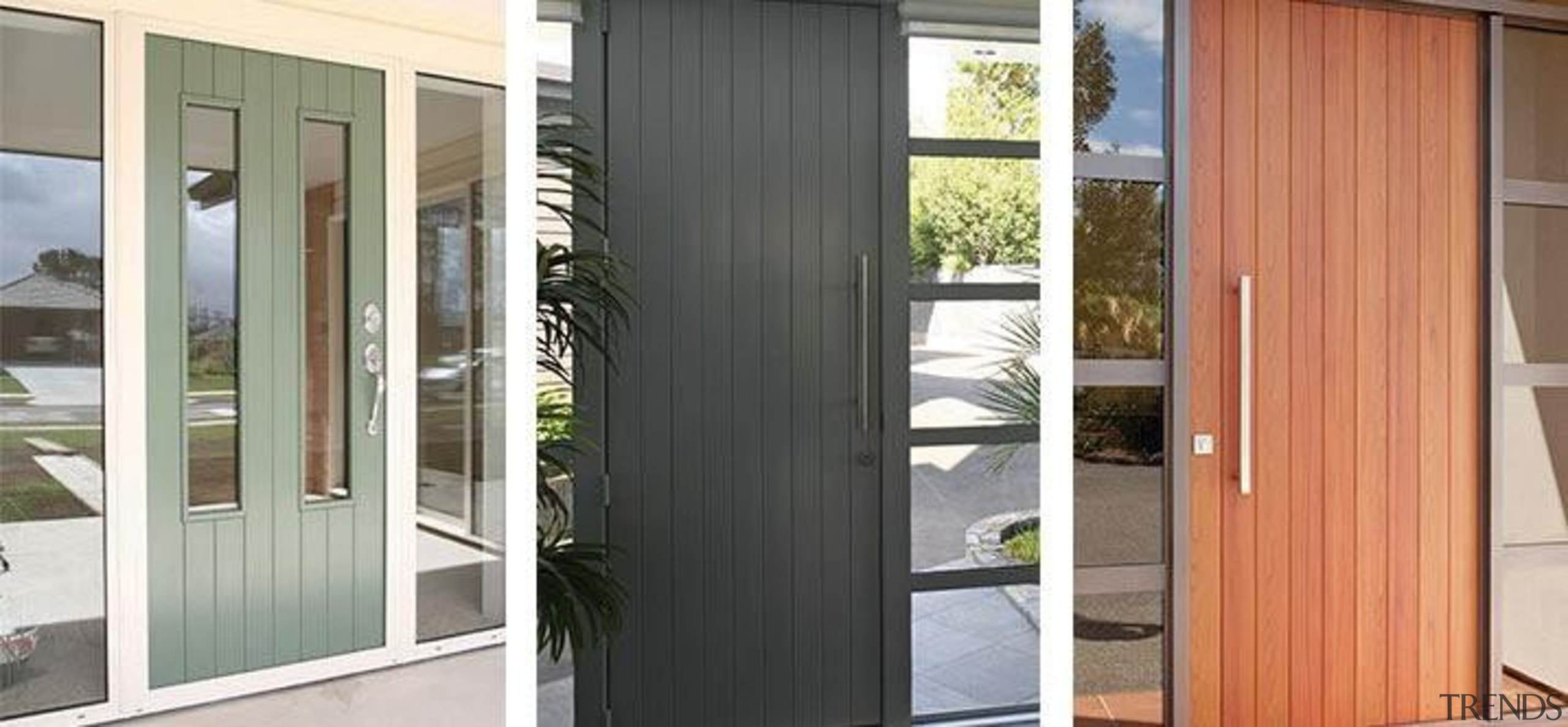 The sleek linear appearance of FIRST® Axis entrance door, home, window, gray