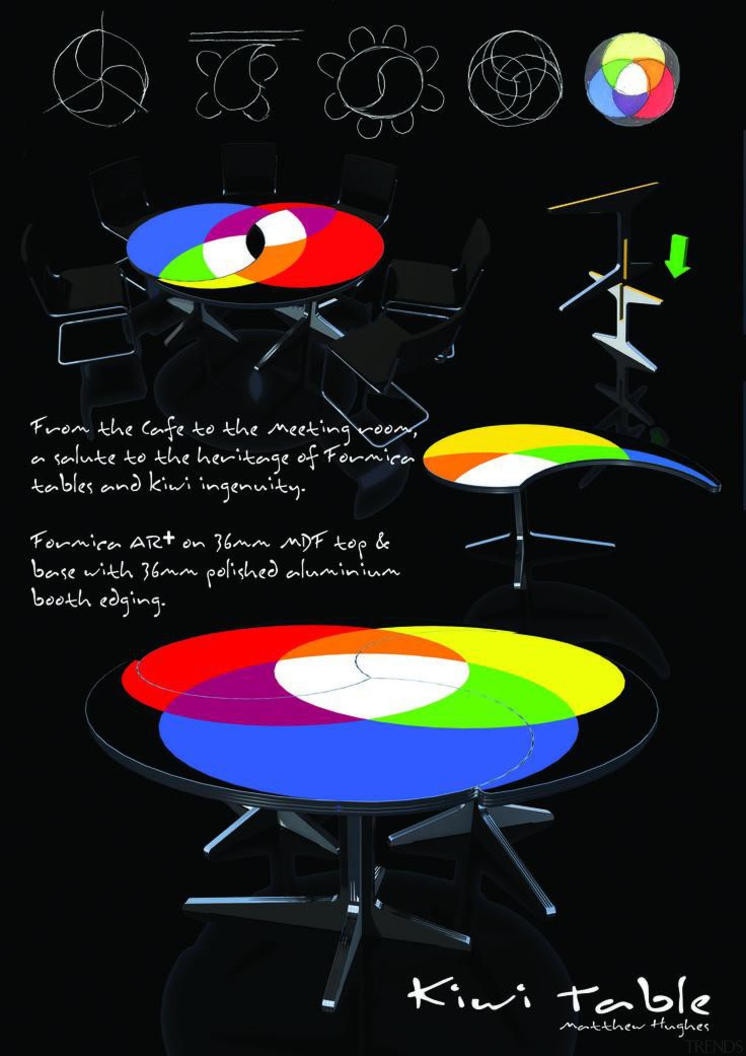 Matthew Hughes - Kiwi Table - font | font, graphic design, light, lighting, poster, product design, black