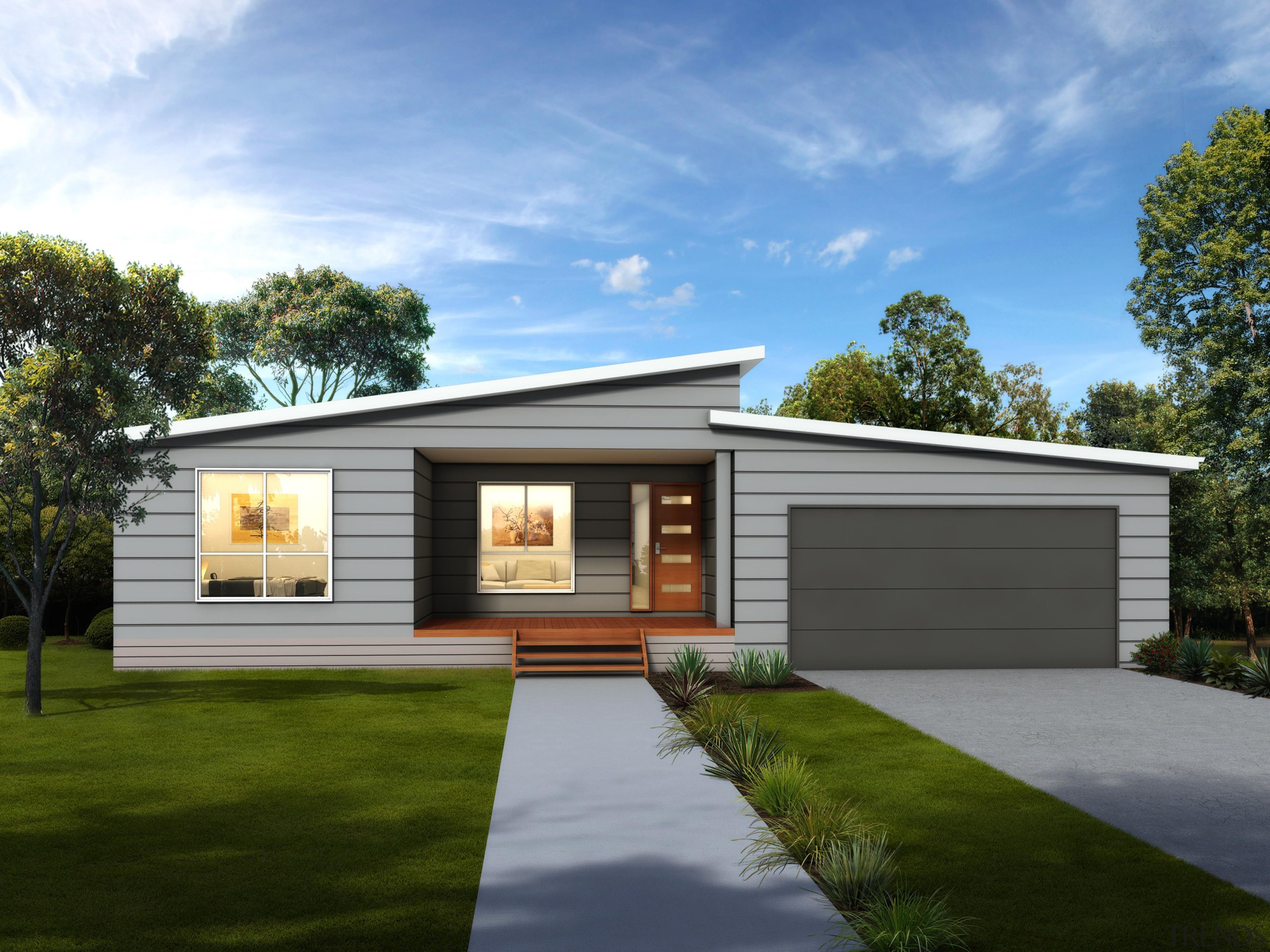 21.0 m x 12.5 mBedrooms: 4 + studyBathrooms: cottage, elevation, facade, home, house, luxury vehicle, property, real estate, residential area, shed, siding, teal