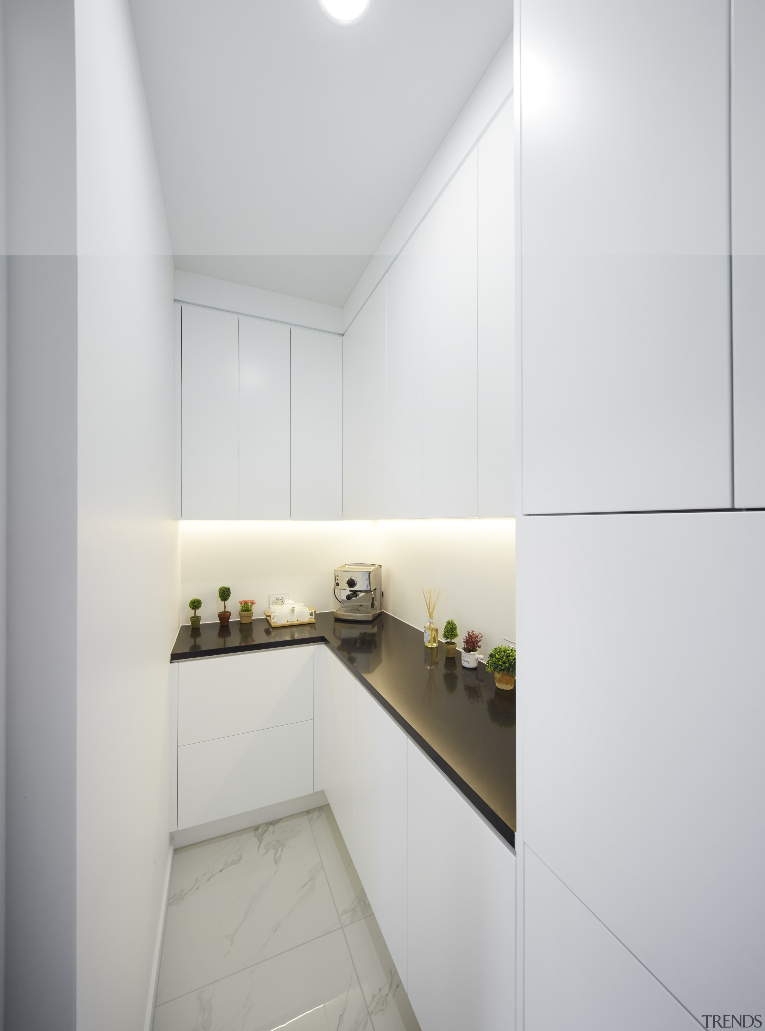 This kitchen always looks its best due to architecture, ceiling, daylighting, house, interior design, kitchen, product design, property, real estate, white