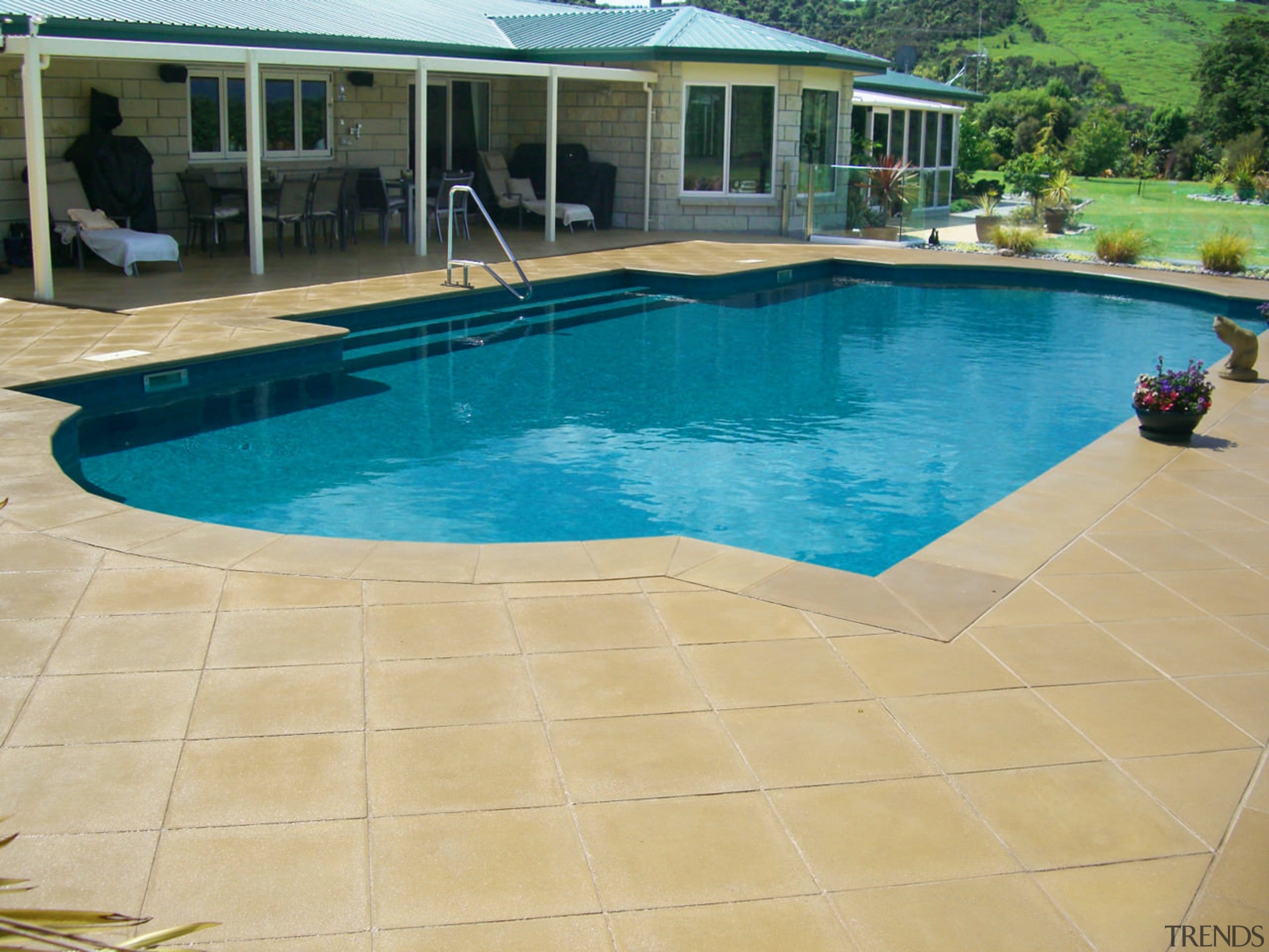 Cascades highly durable Aqualux 770 interiors last over composite material, floor, flooring, leisure, outdoor structure, property, real estate, swimming pool, tile, orange