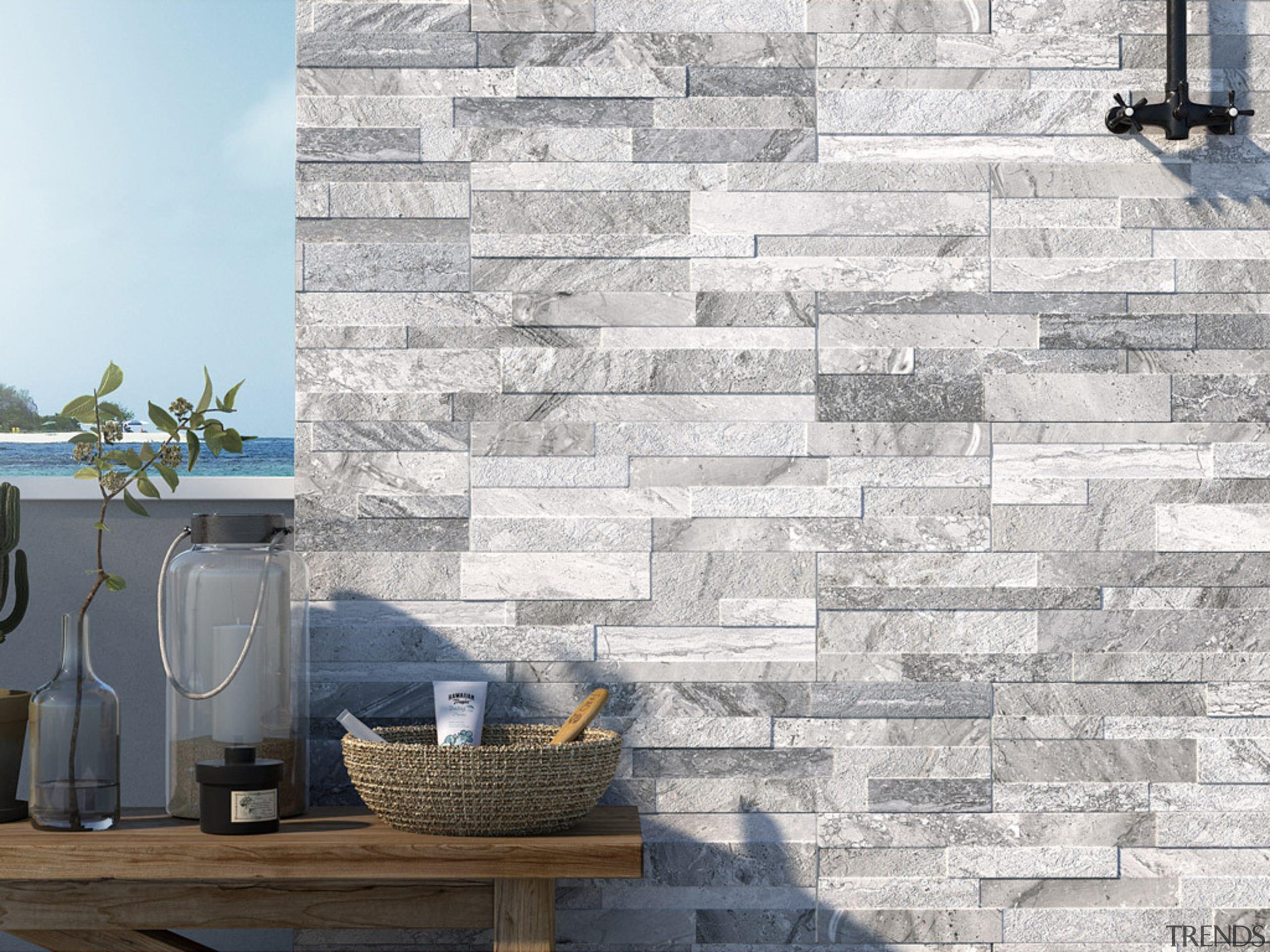 Gioia Grigio 150x610 - Gioia Grigio 150x610 - brick, floor, stone wall, tile, wall, white, gray