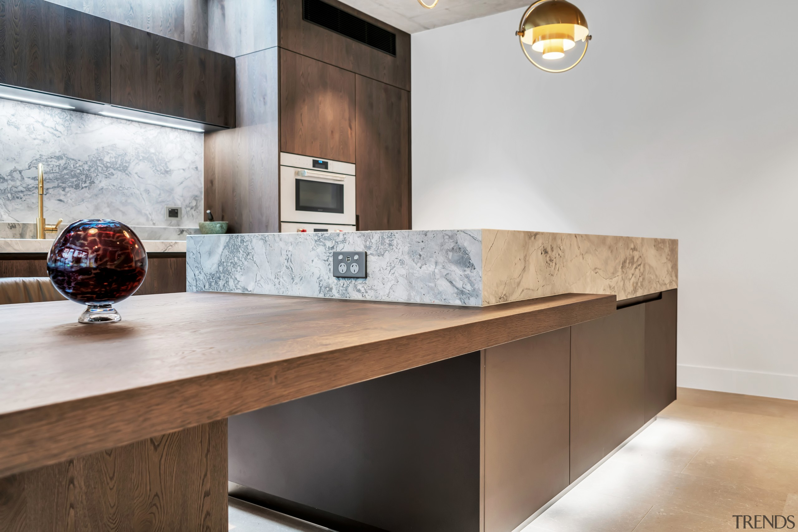 This kitchen, by designer Dean Welsh, includes a