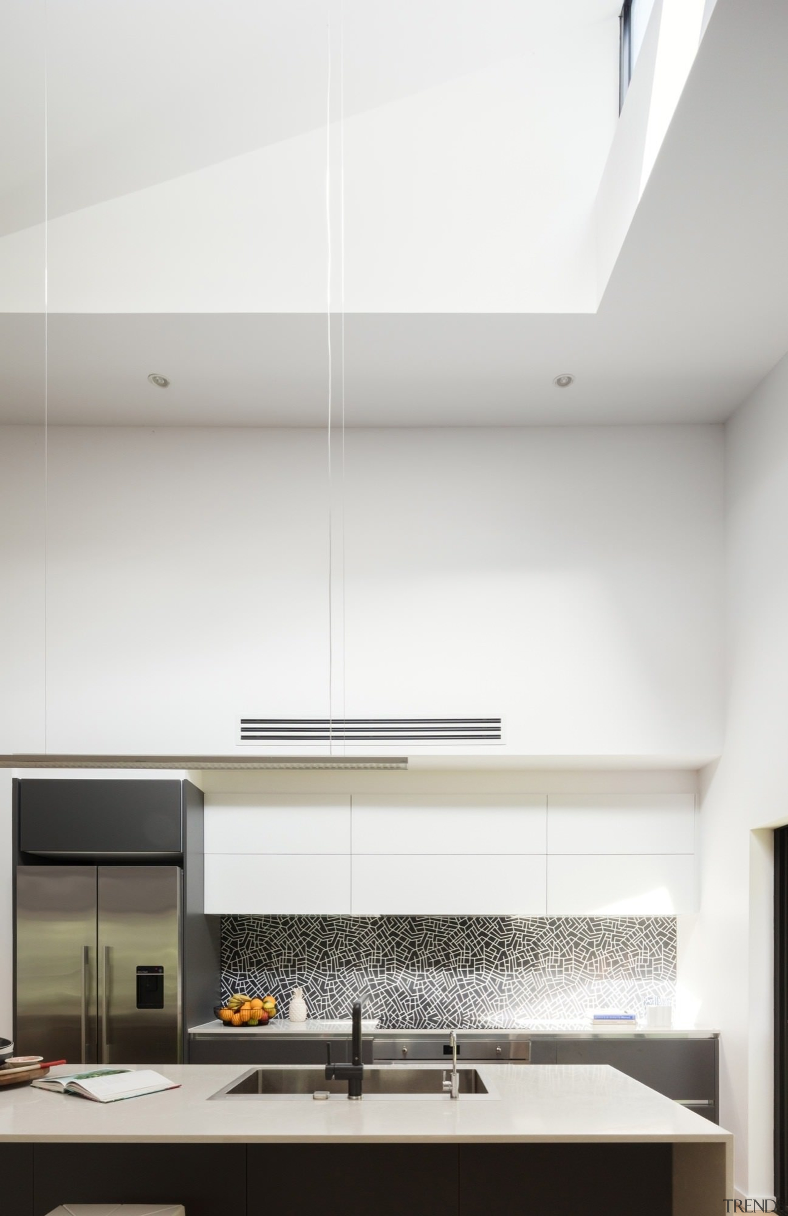 Architect: Bijl ArchitecturePhotography by Katherine Lu architecture, ceiling, daylighting, house, interior design, light fixture, lighting, product design, white