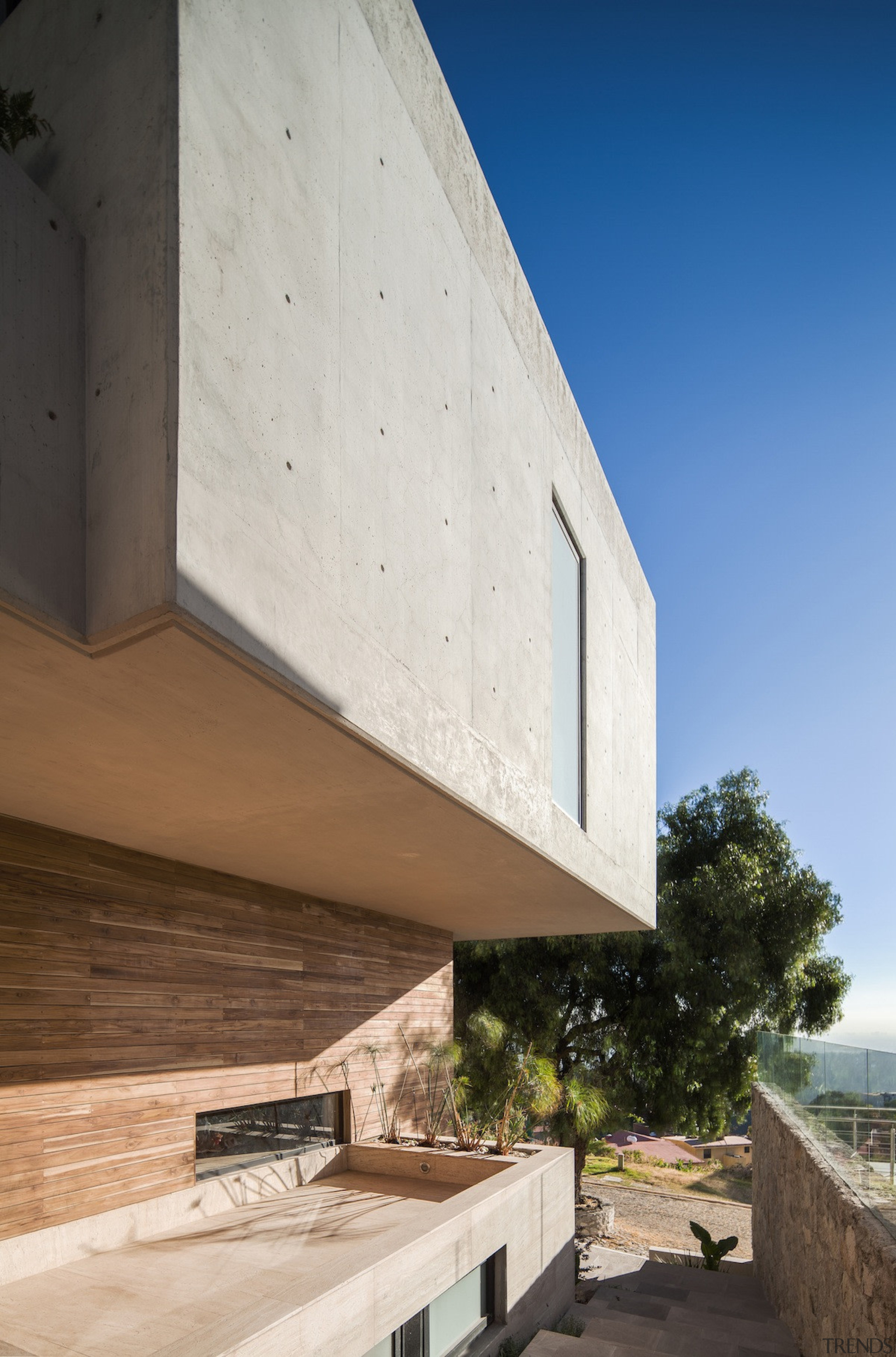 Concrete rings the home - Concrete rings the architecture, building, daylighting, facade, house, real estate, sky