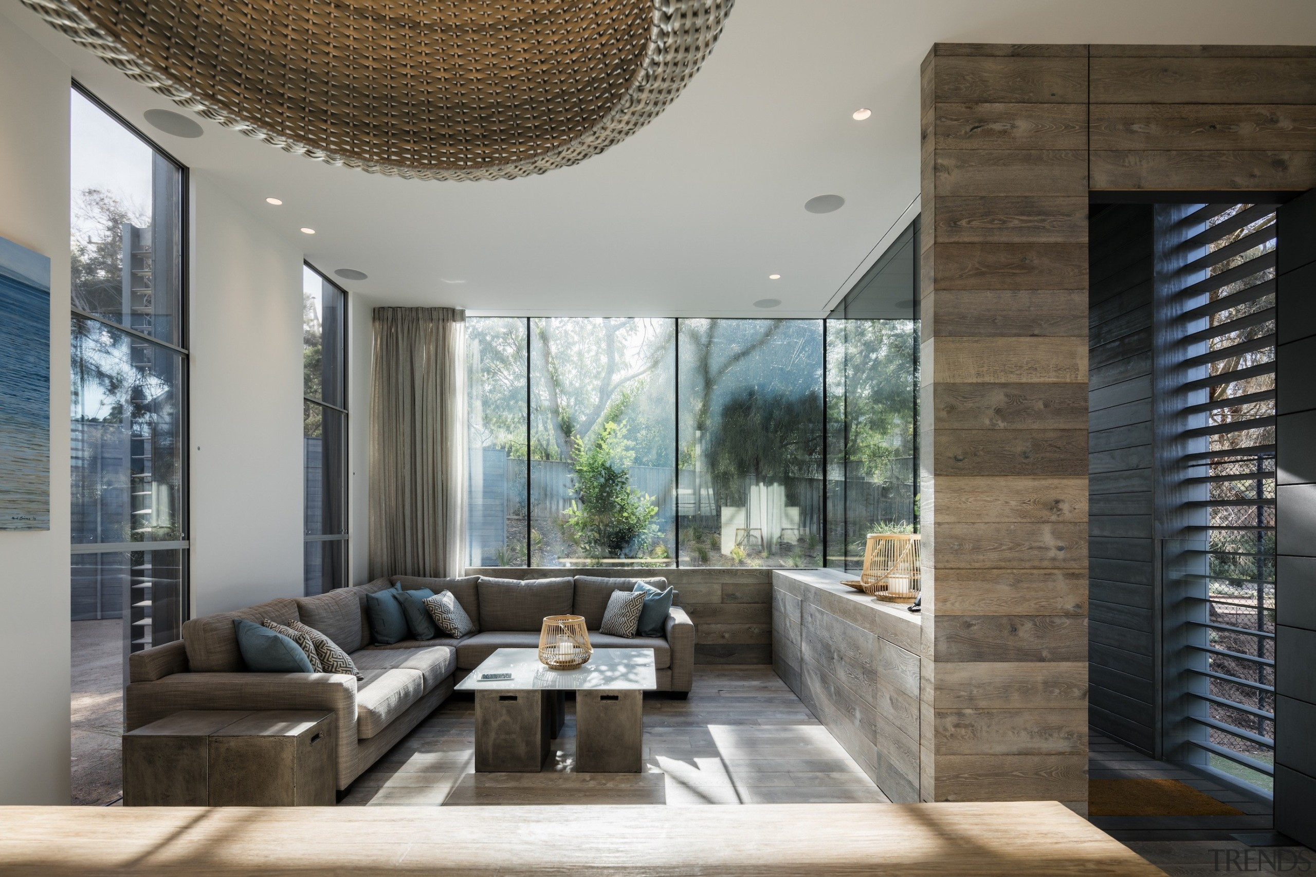 Mitsuori Architects - Highly Commended – 2016 TIDA architecture, ceiling, interior design, living room, real estate, gray, black