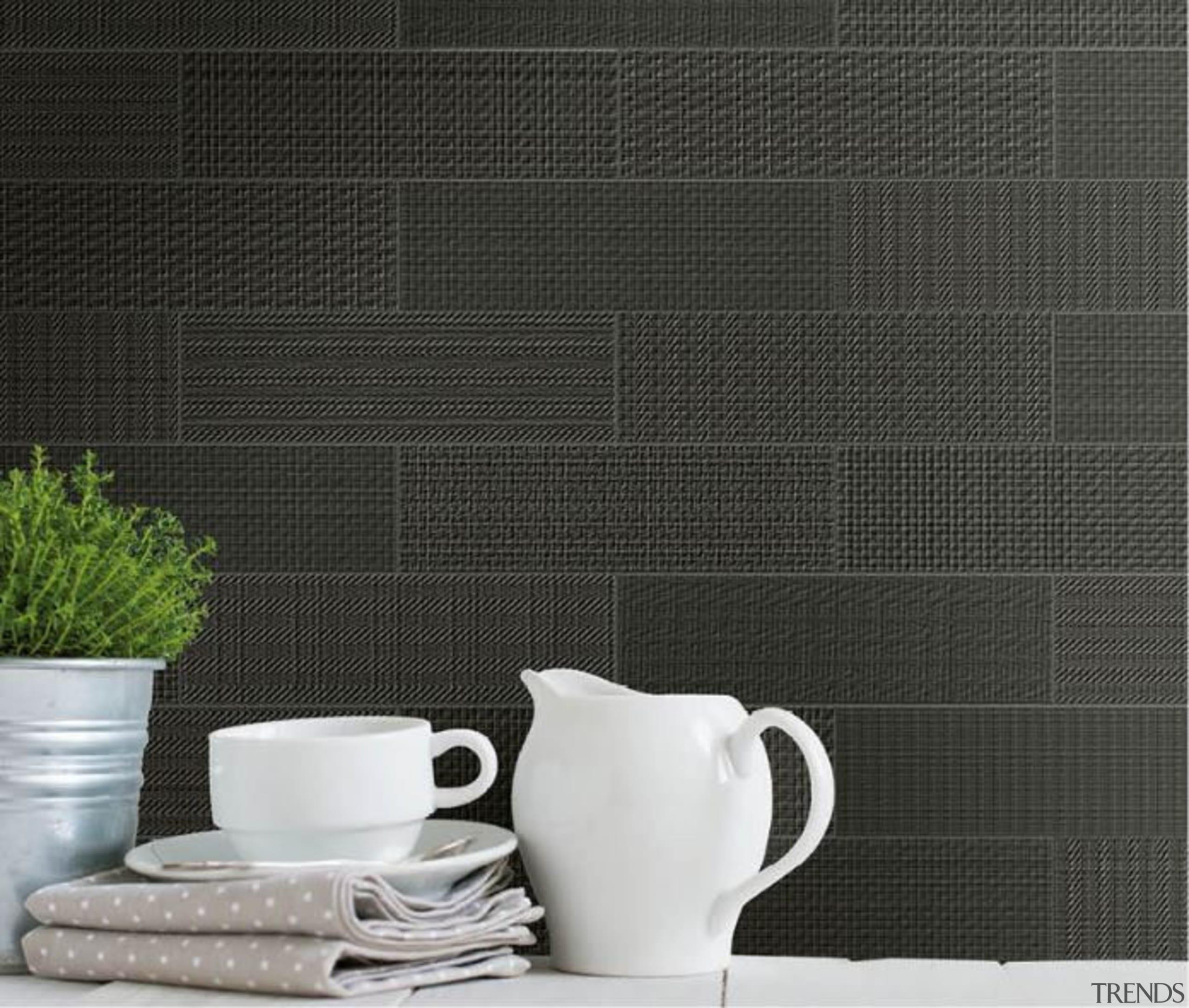 Brick Text Black 90x300 - Brick Text Black ceramic, coffee cup, cup, flooring, saucer, serveware, still life, still life photography, tableware, tap, teapot, tile, black