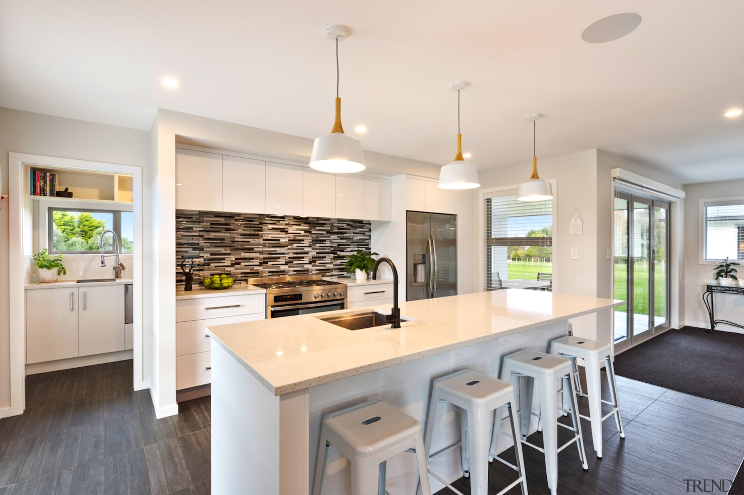 Award-winning home offers intelligent layouts and refined finishes ceiling, countertop, cuisine classique, interior design, kitchen, property, real estate, room, white