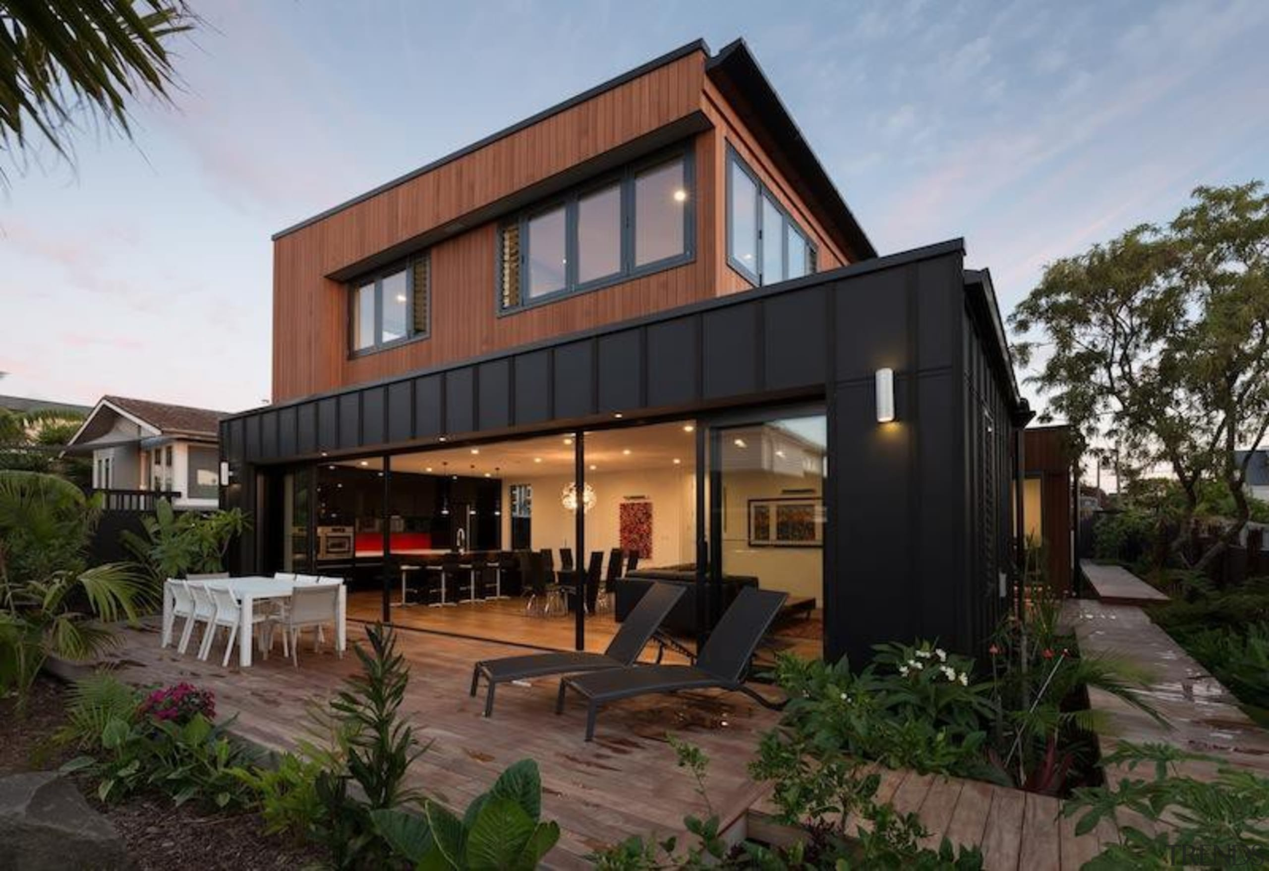 TIDA New Zealand Architect-designed Homes - 2015 Trends architecture, elevation, facade, home, house, property, real estate, residential area, roof, black, gray