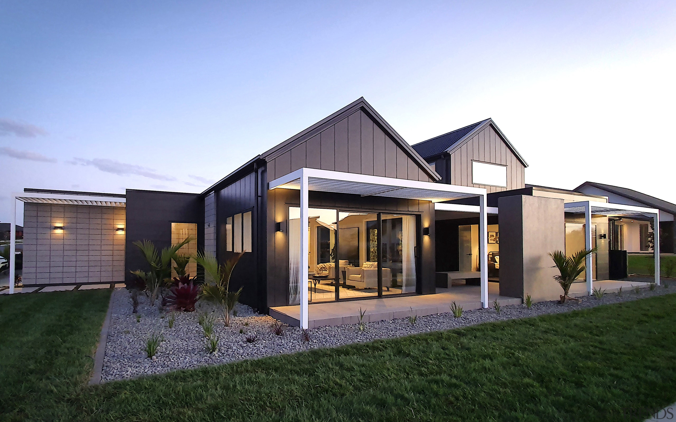 Metallic paints, concrete effect paints and on-trend wallpaper