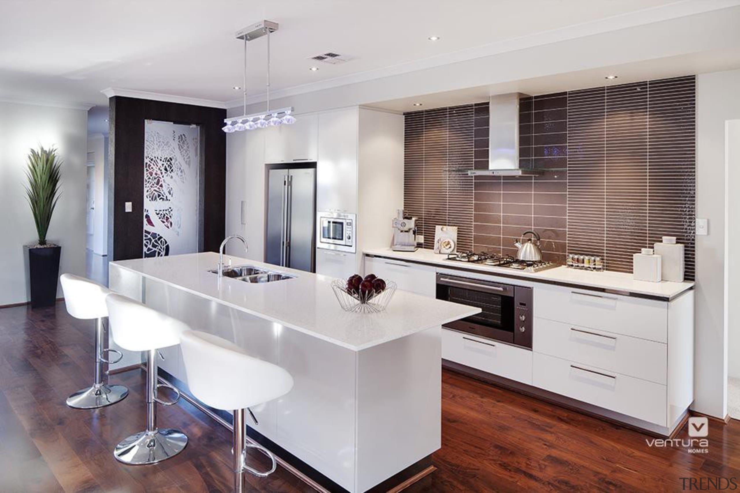 Kitchen design. - The Nirvana Display Home - cabinetry, countertop, cuisine classique, floor, flooring, interior design, kitchen, real estate, room, gray
