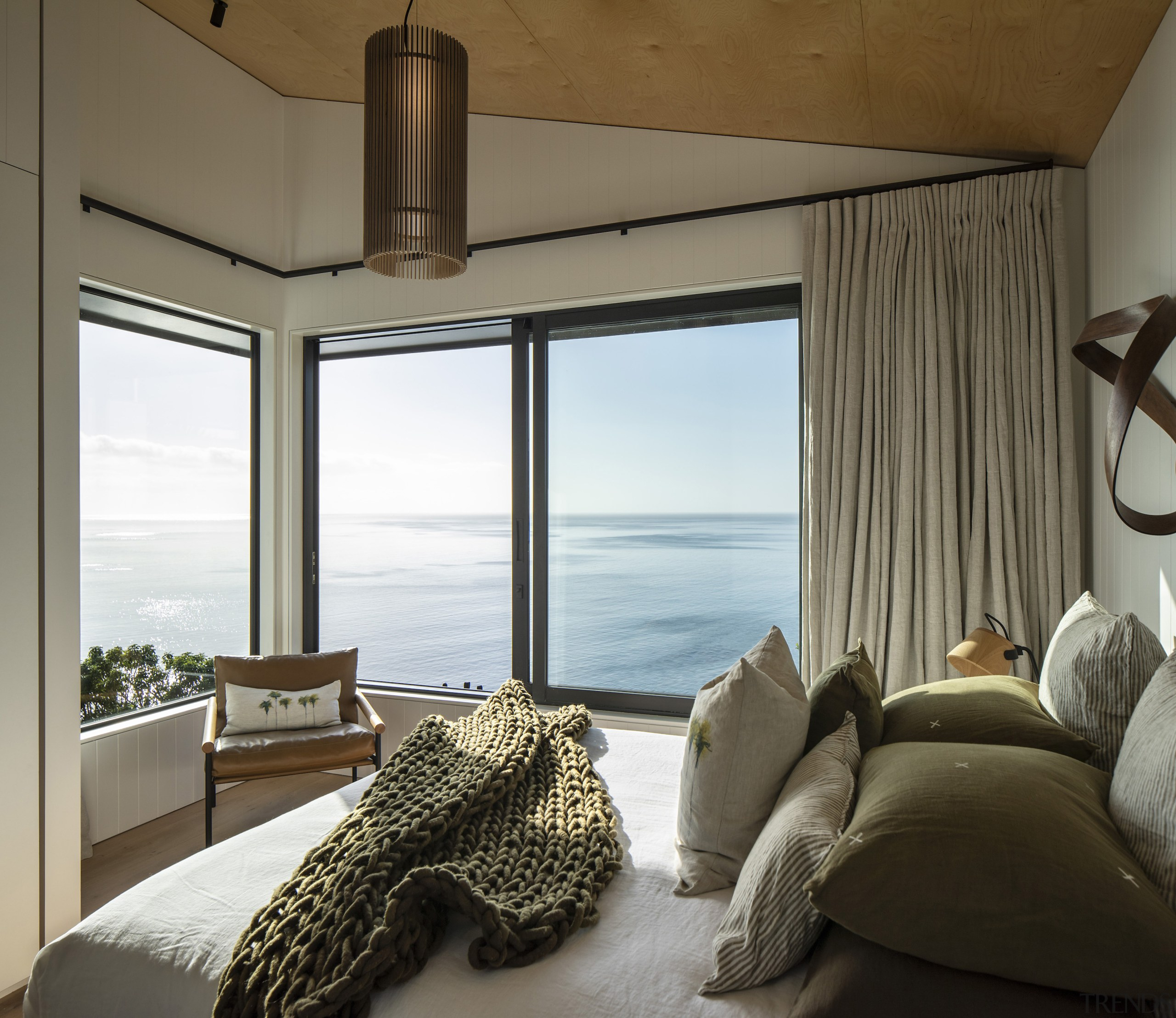 The master bedroom is right at the ocean