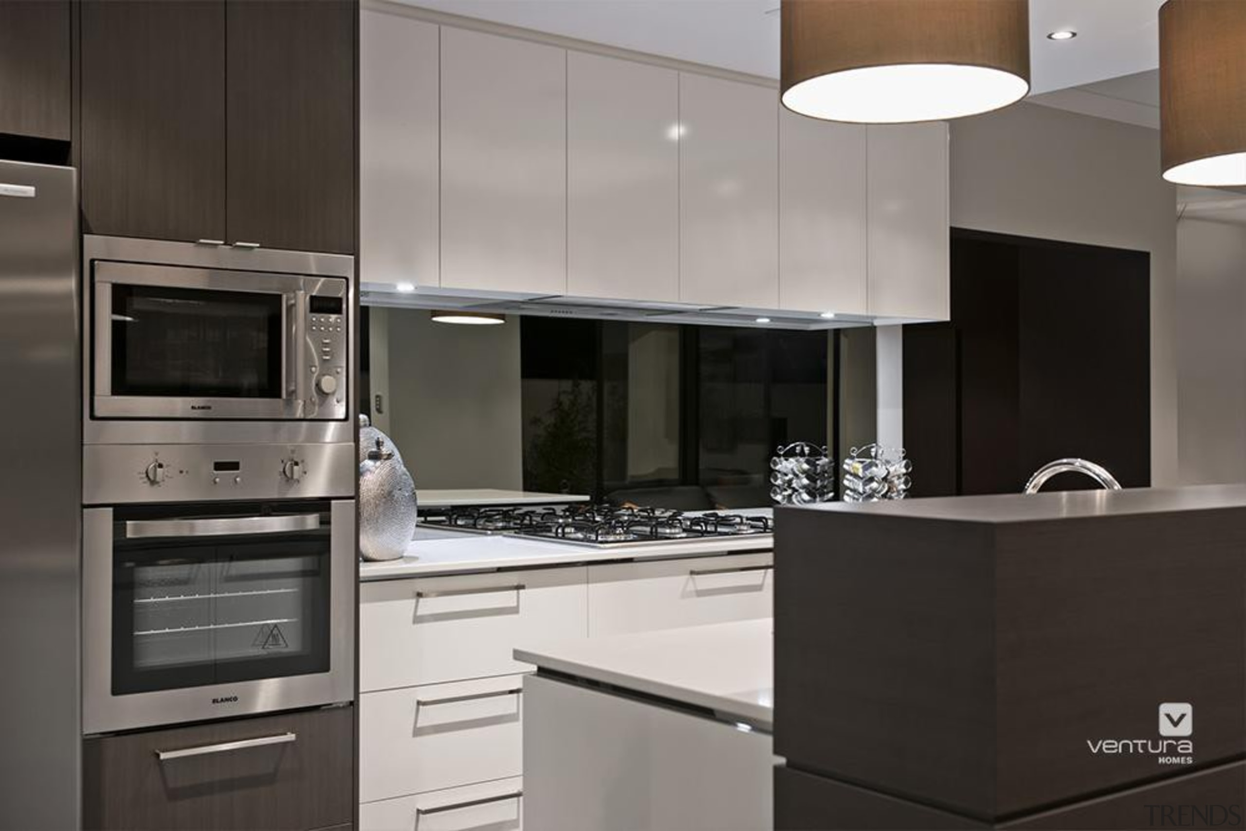 Kitchen design. - The Providence Display Home - cabinetry, countertop, cuisine classique, home appliance, interior design, kitchen, kitchen appliance, kitchen stove, major appliance, product design, gray, black