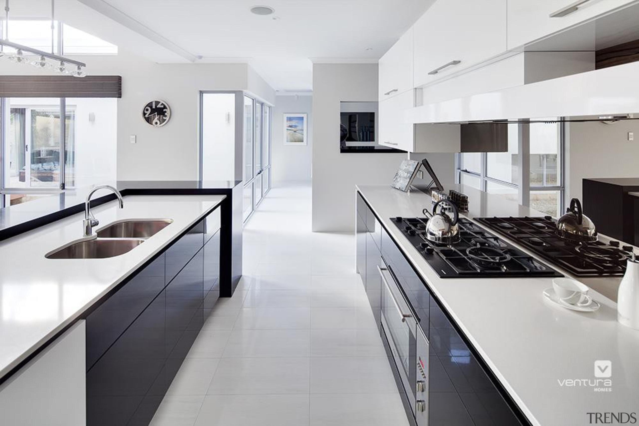 Kitchen design. - The Haven Display Home - countertop, cuisine classique, interior design, kitchen, real estate, room, white, gray