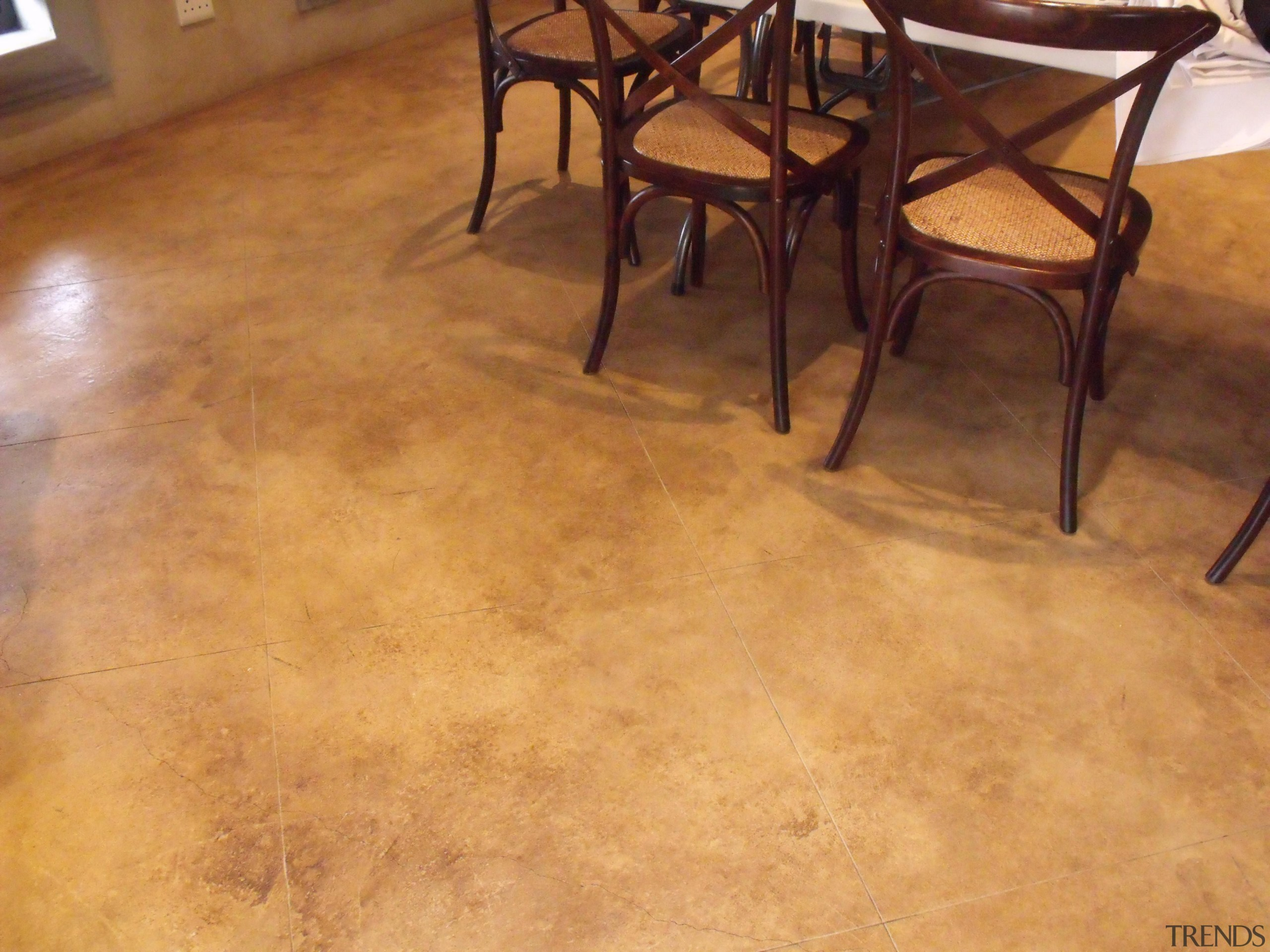 Chemical stain 4 - Chemical_stain_4 - floor | floor, flooring, hardwood, laminate flooring, table, tile, wood, wood flooring, wood stain, orange