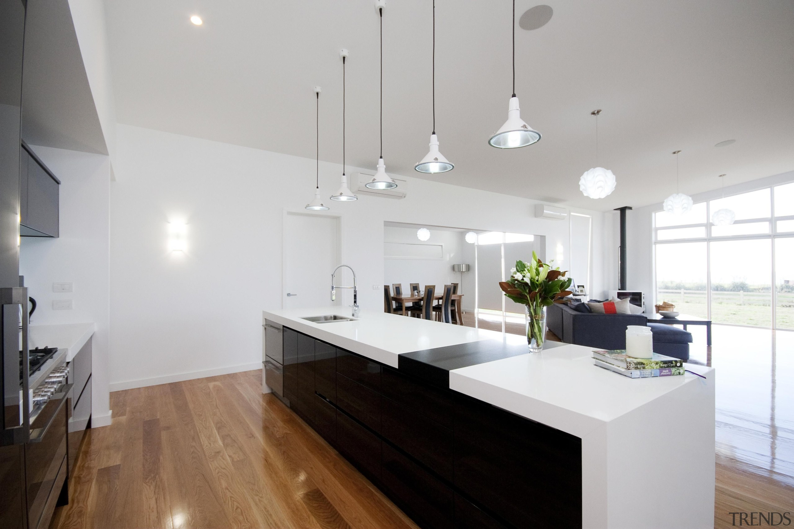 Staple island kitchen at the heart of this architecture, countertop, house, interior design, kitchen, real estate, room, gray, white