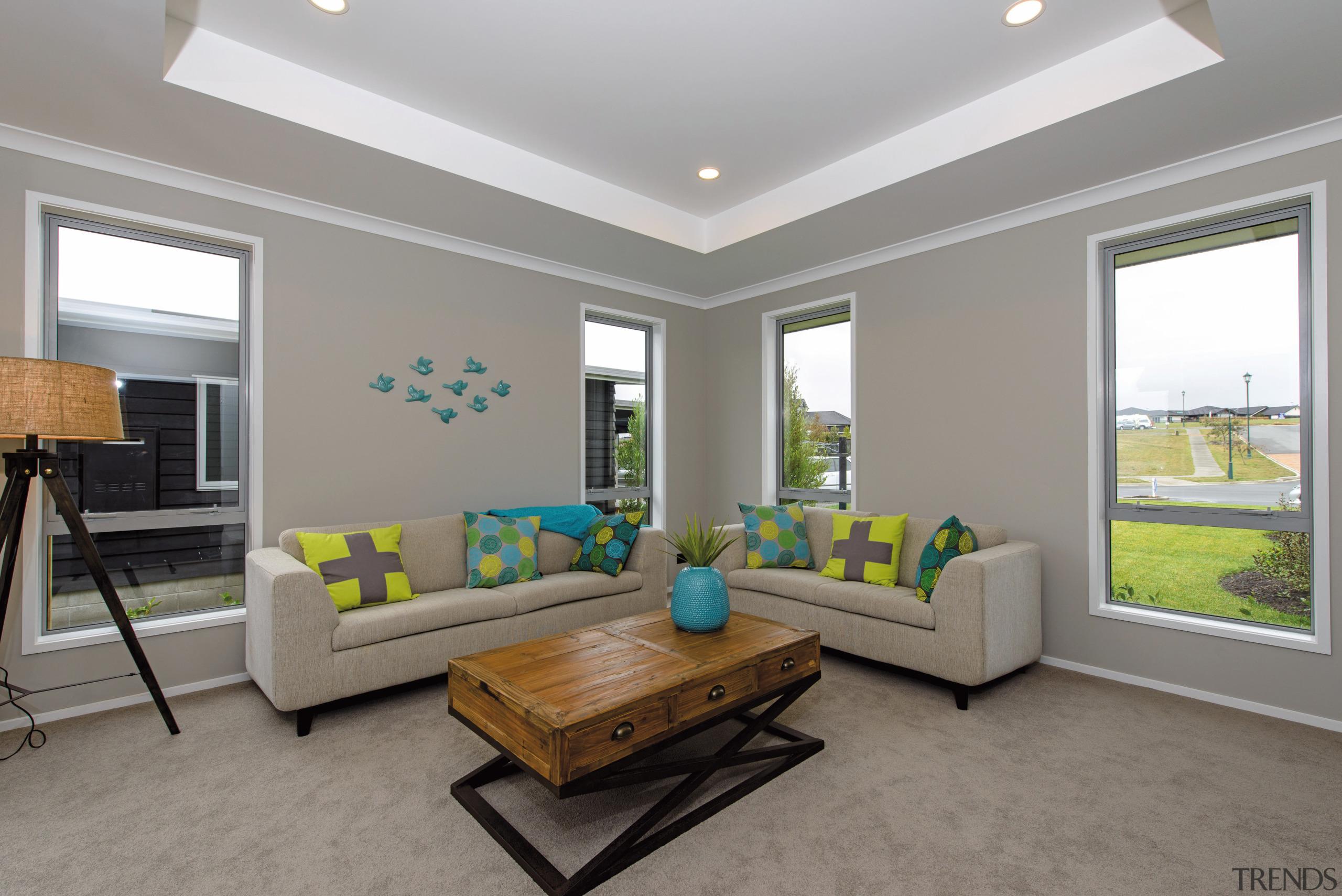 GJ Gardner Homes show home living - GJ estate, home, house, interior design, living room, real estate, room, window, gray