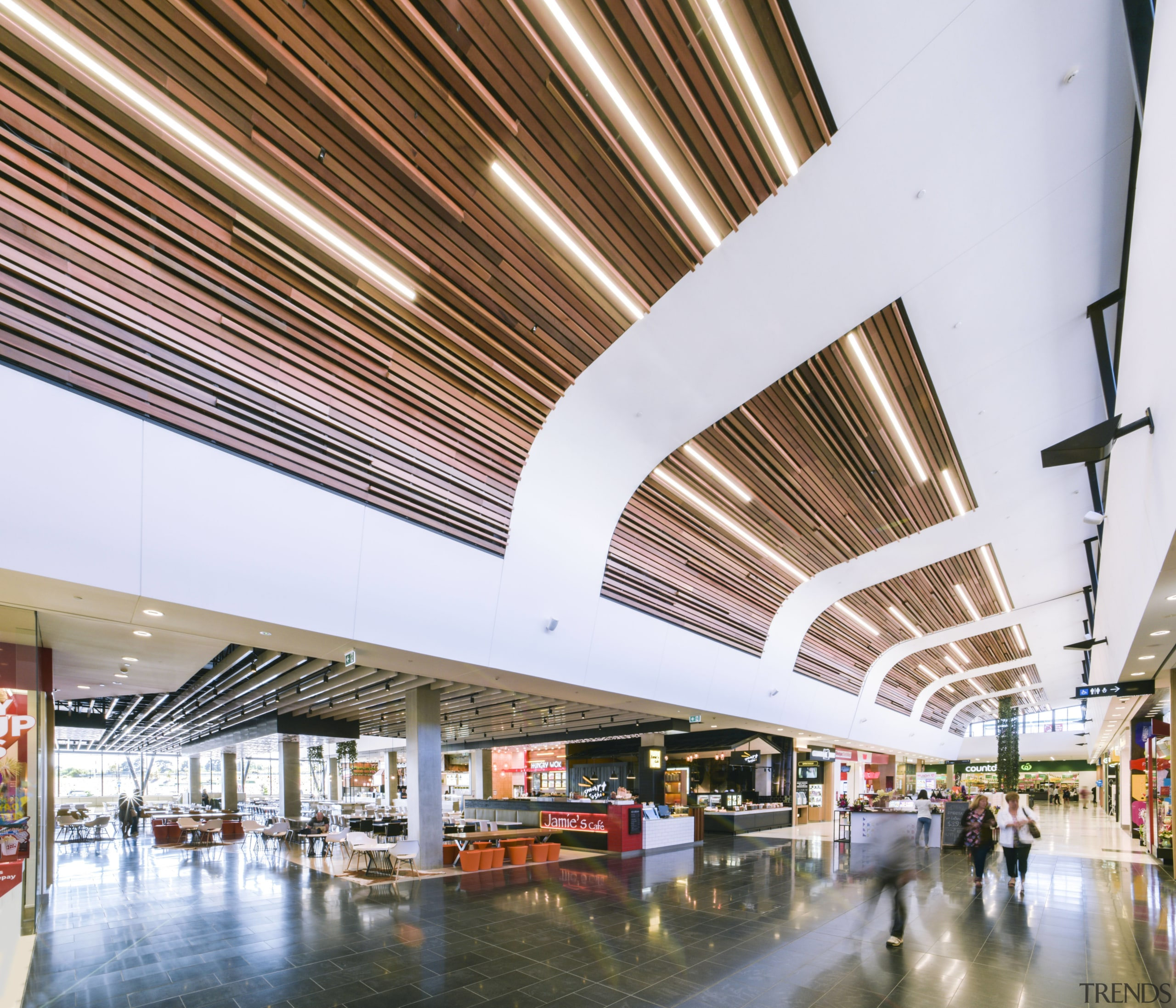 Clerestory windows run the length of the North airport terminal, architecture, ceiling, daylighting, lobby, metropolitan area, shopping mall, white