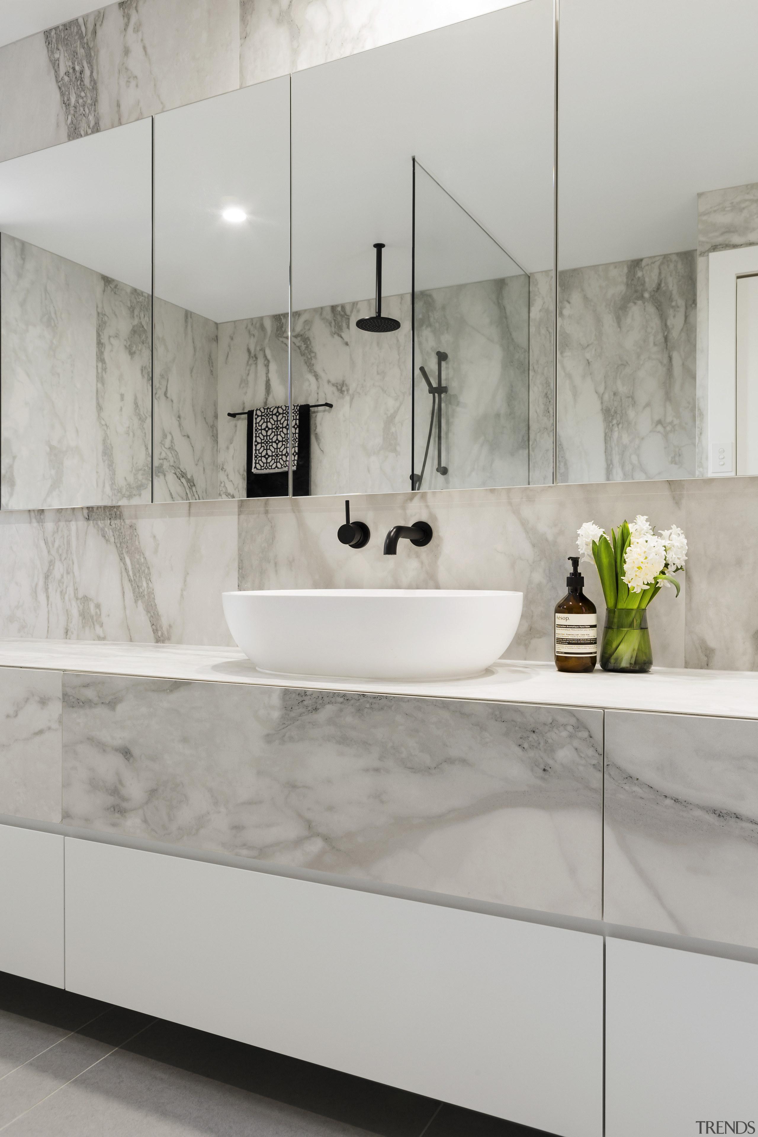As well as the extensive wall of under bathroom, ceramic, countertop, floor, flooring, interior design, plumbing fixture, product design, sink, tap, tile, wall, gray