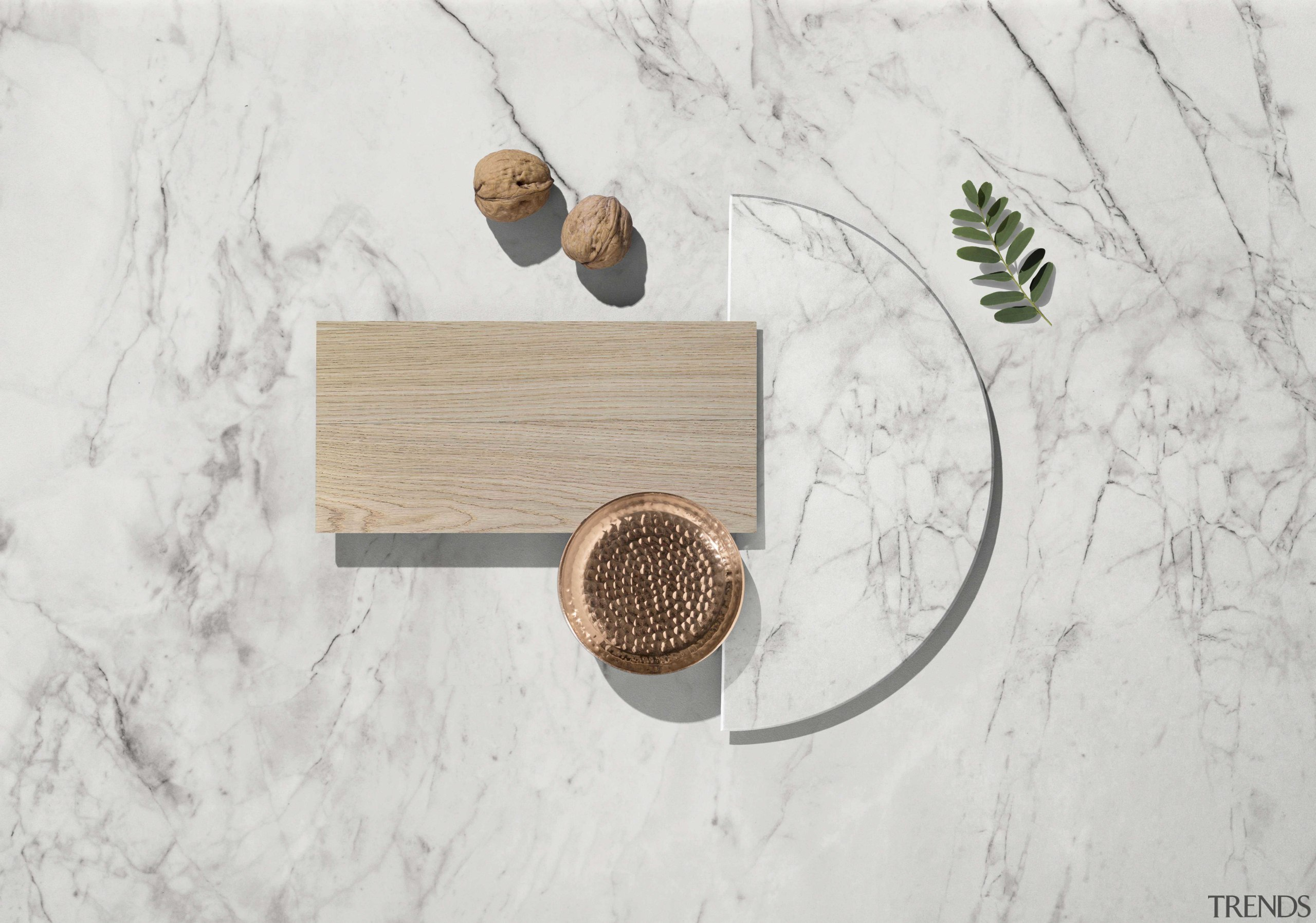 Moodboard – Dekton Bergen - circle | furniture circle, furniture, table, wood, white, gray