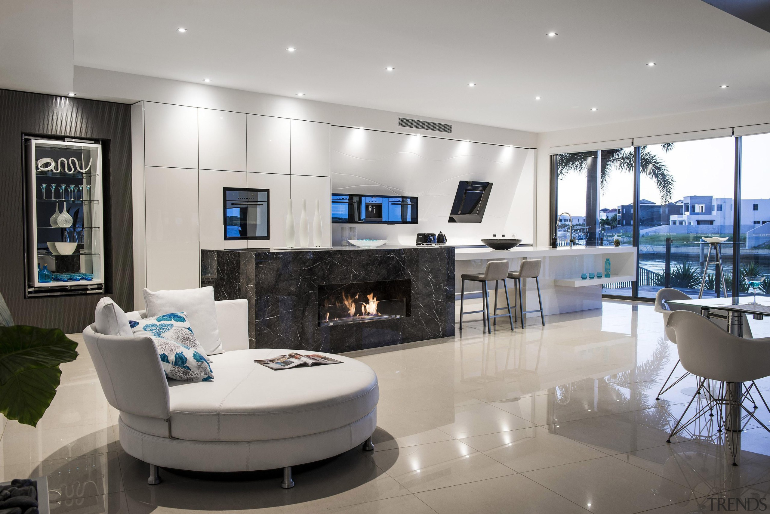 Winner Kitchen Design and Kitchen of the Year interior design, living room, gray