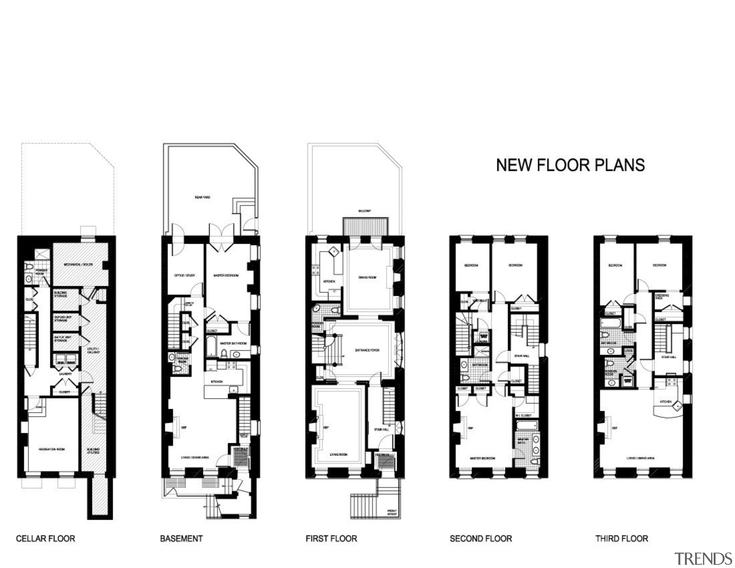 This house was remodeled by Architect Brian J. black and white, design, diagram, drawing, floor plan, font, line, monochrome, plan, product design, structure, text, white