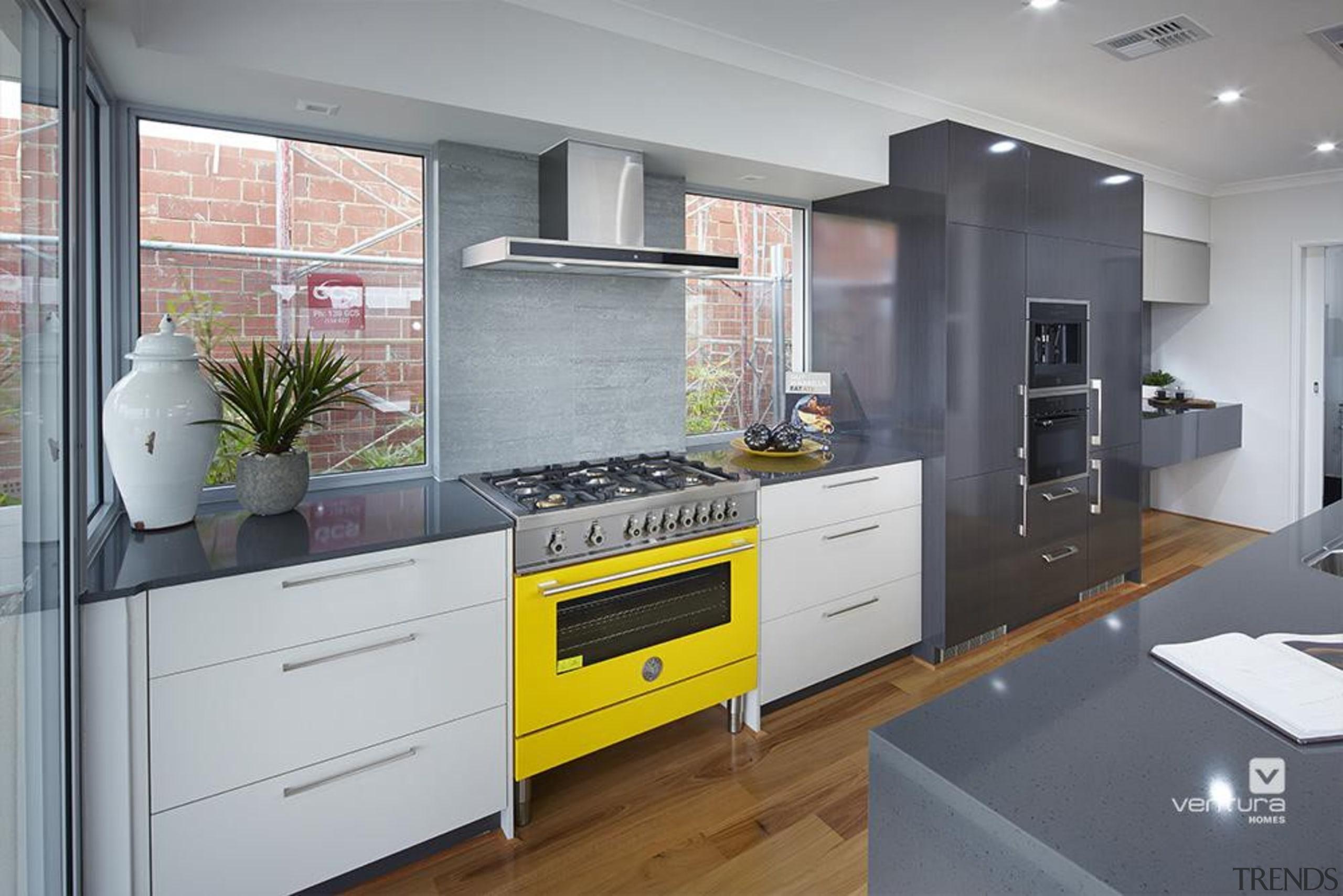 Kitchen design. - The Monterosso Two Storey Display cabinetry, countertop, cuisine classique, home appliance, interior design, kitchen, room, gray