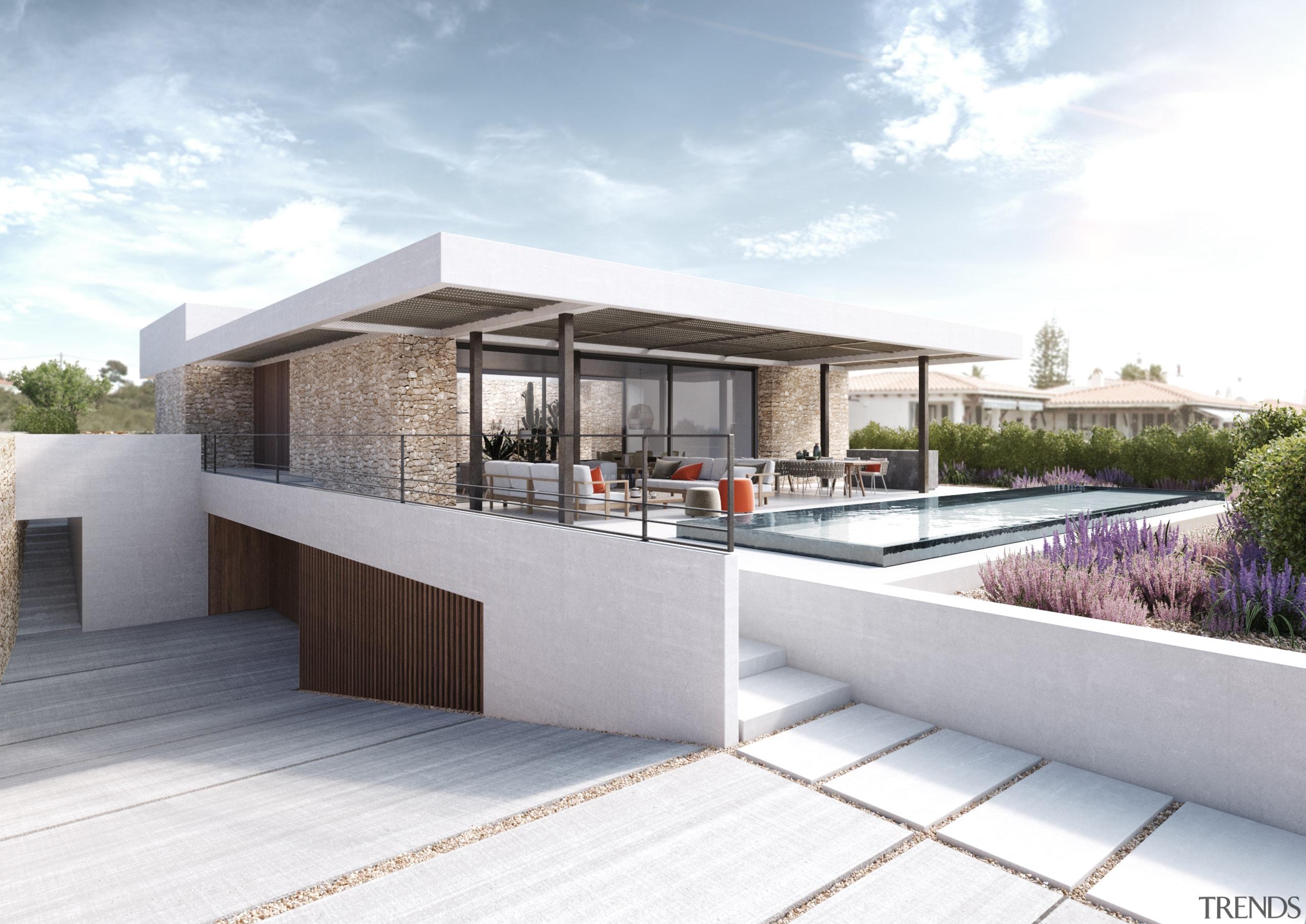 Island life – Corner view - architecture   architecture, facade, home, house, property, real estate, white