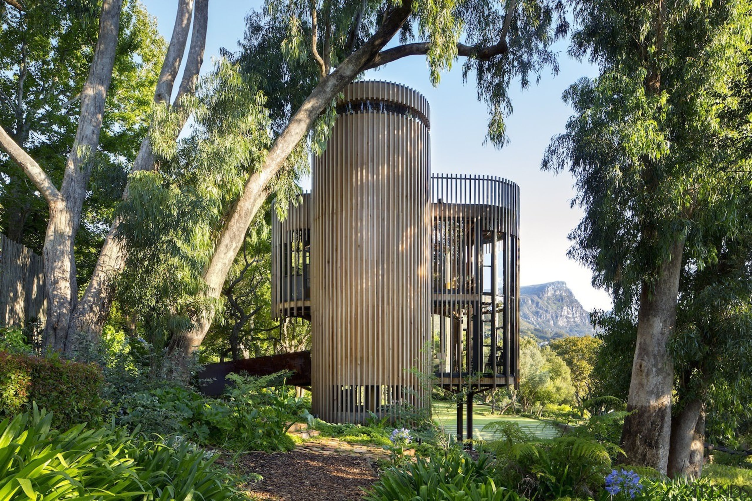 Architect: Malan VorsterPhotography by Adam Letch, Micky estate, house, outdoor structure, property, real estate, tree, brown