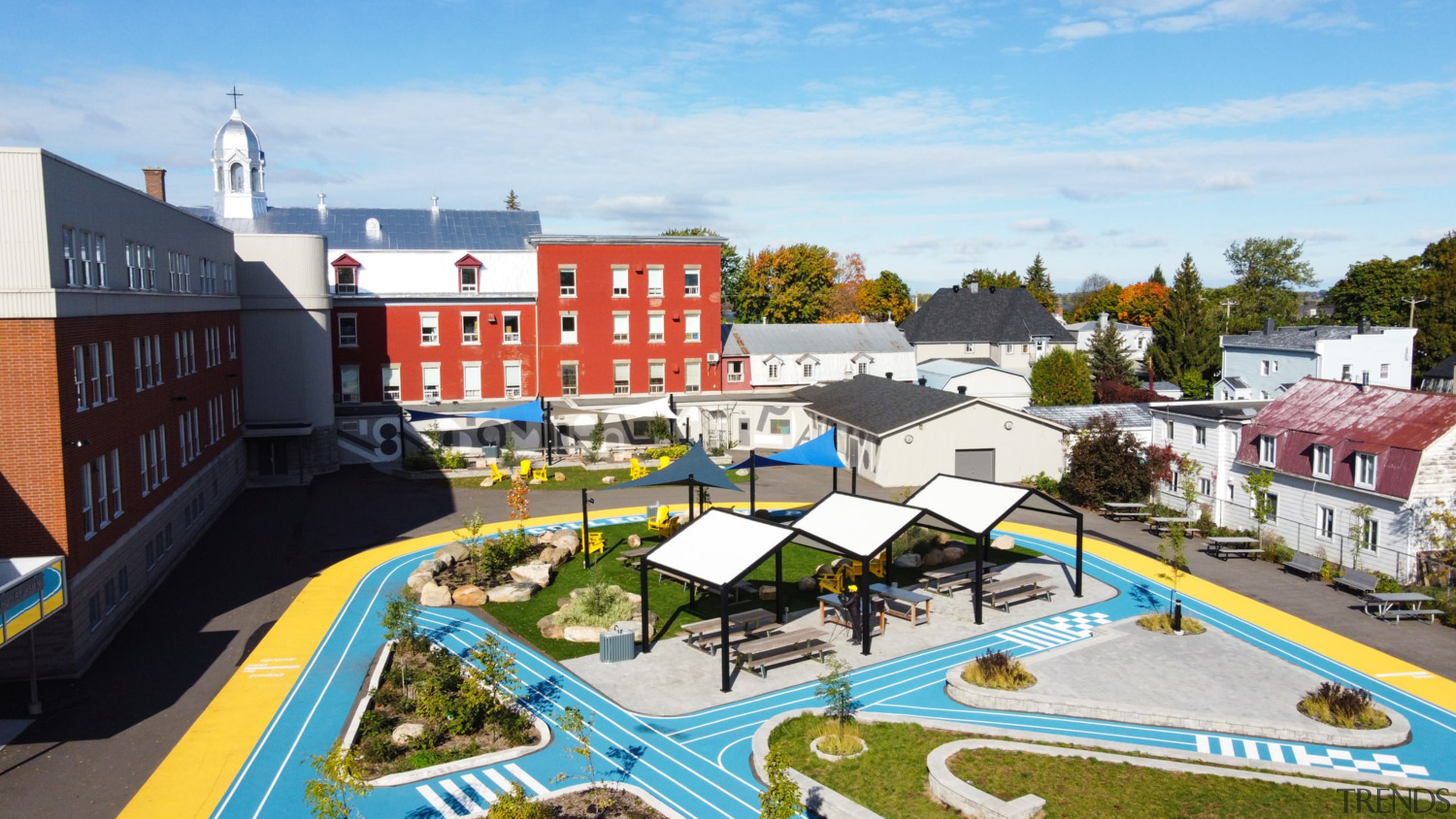 View of the central area of Collège Saint-Paul's