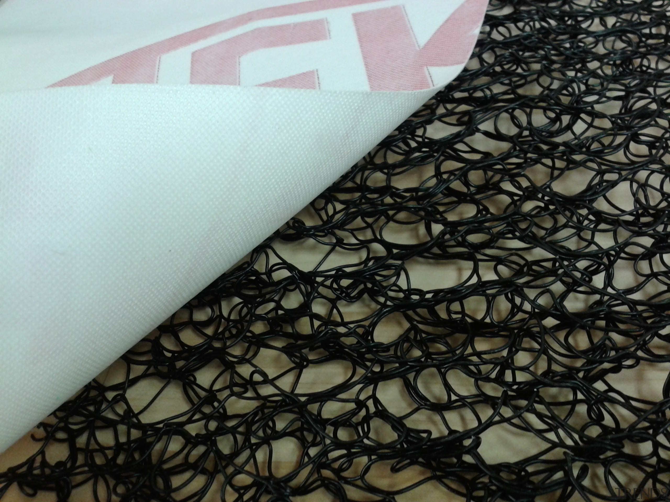 Thermakraft introduced the first synthetic roofing underlay in material, pattern, textile, black