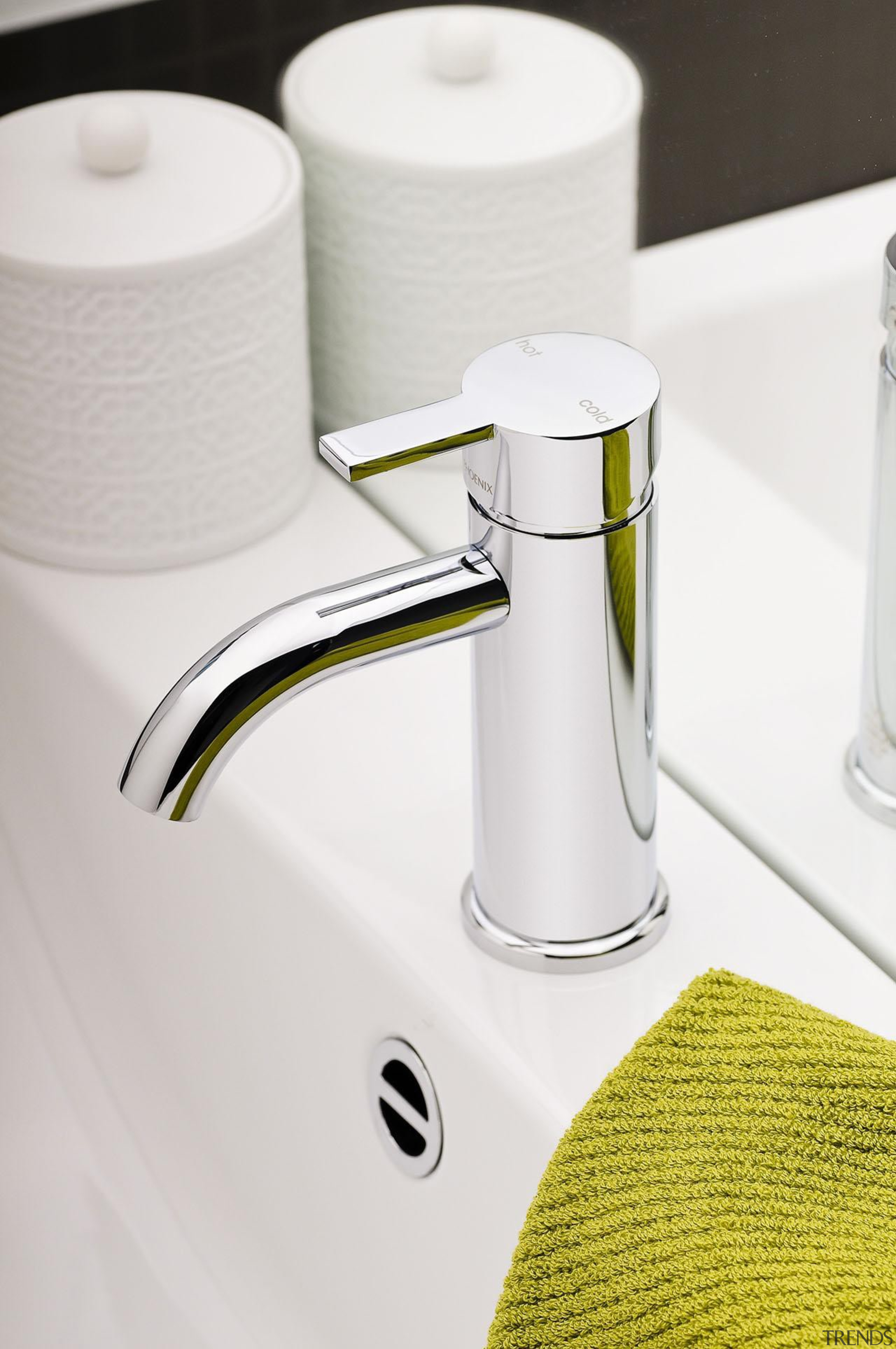 Lexi Basin Mixer is a statement tap in plumbing fixture, product, product design, tap, white