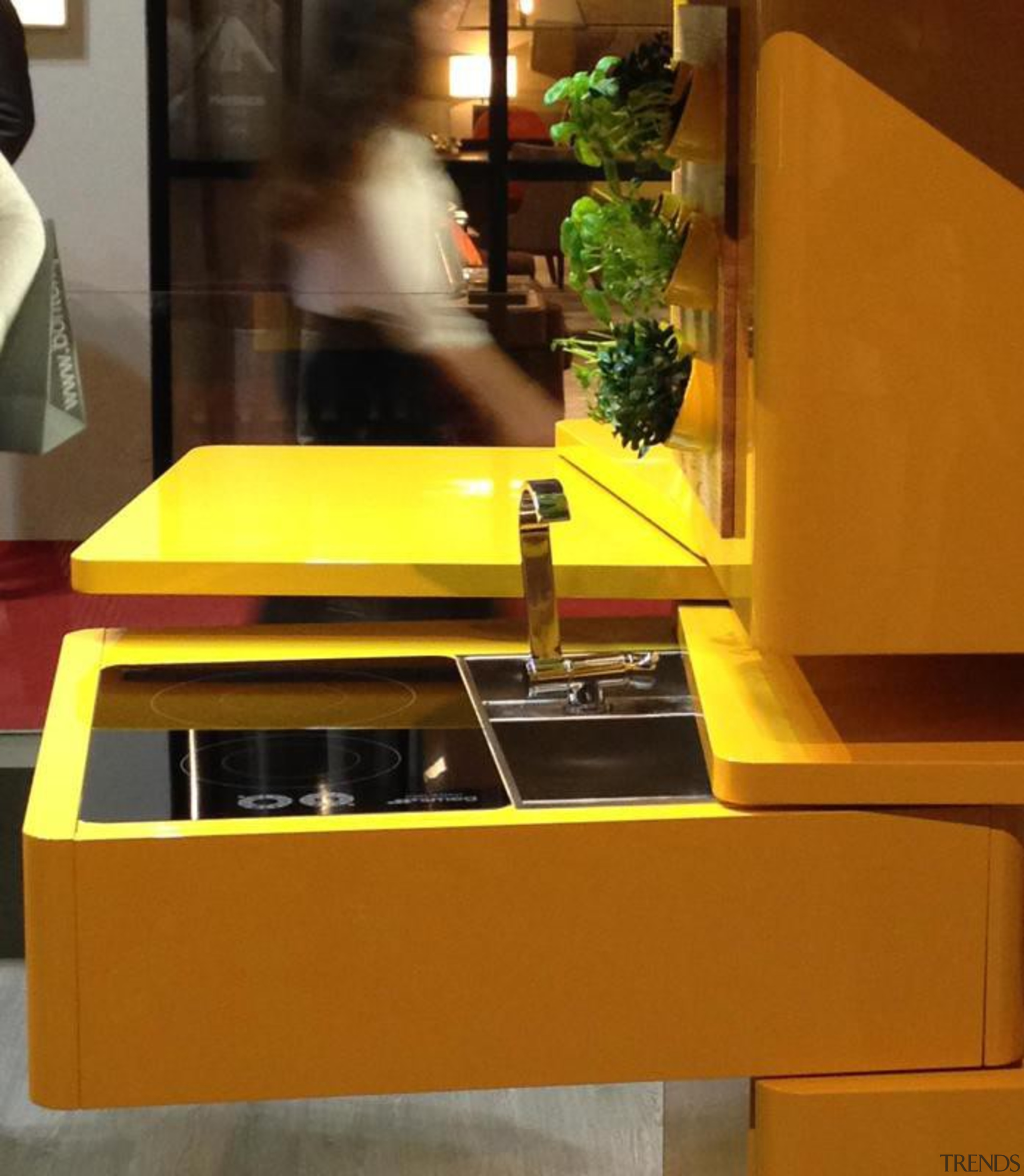 Forget 'bigger is better'; in the eco-conscious yet desk, furniture, interior design, product design, table, yellow, brown
