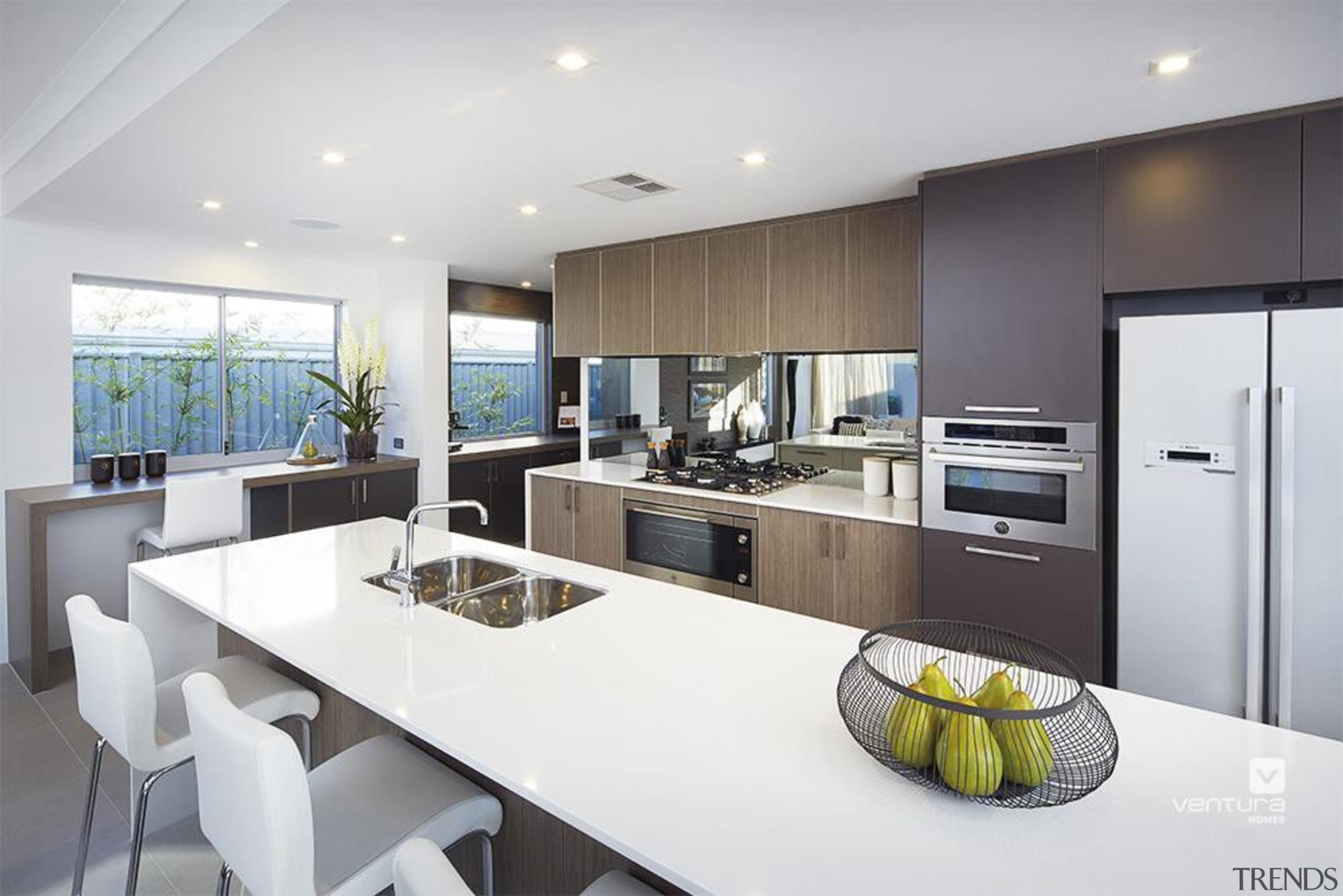 Kitchen design. - The Lexington Two Storey Display countertop, interior design, kitchen, real estate, gray, white