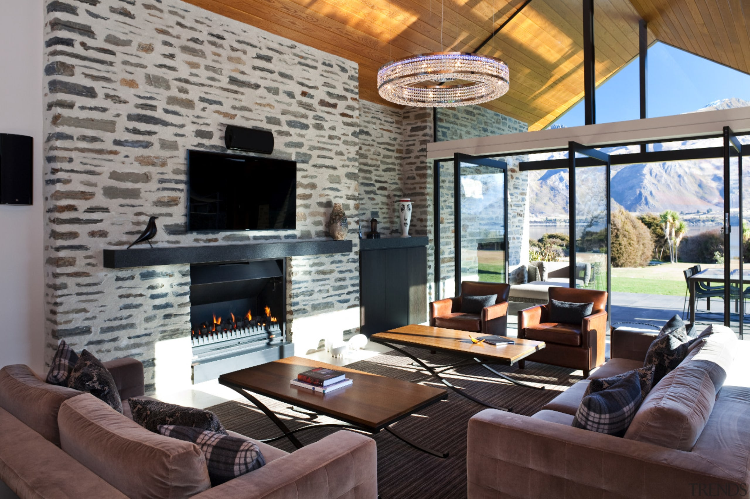 Take in the breathtaking views captured by this home, interior design, living room, property, real estate, room, gray, black