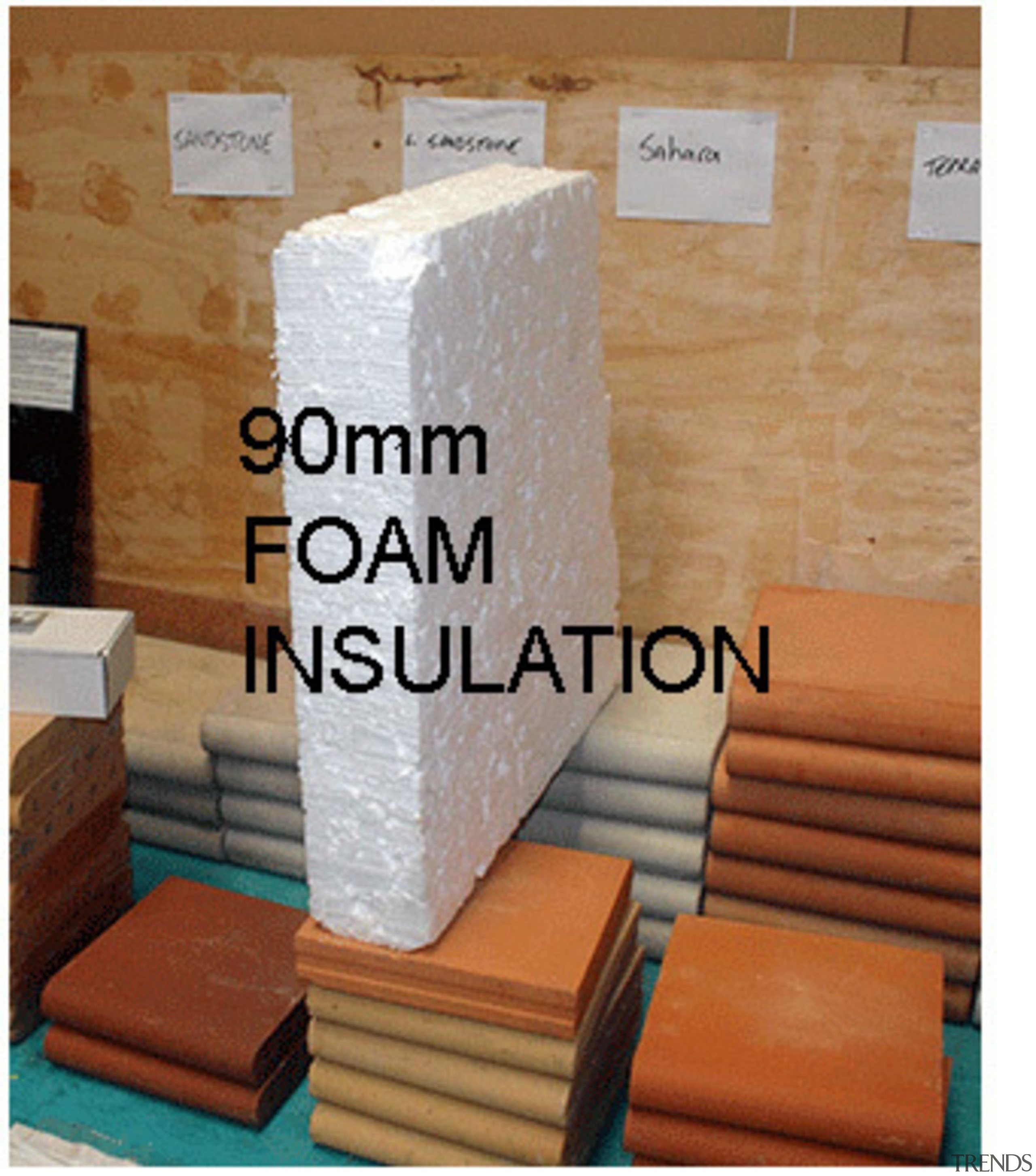 90mm INFILLFOAM - Here comes the sun - beige, brick, floor, product, room, wall, wood, brown