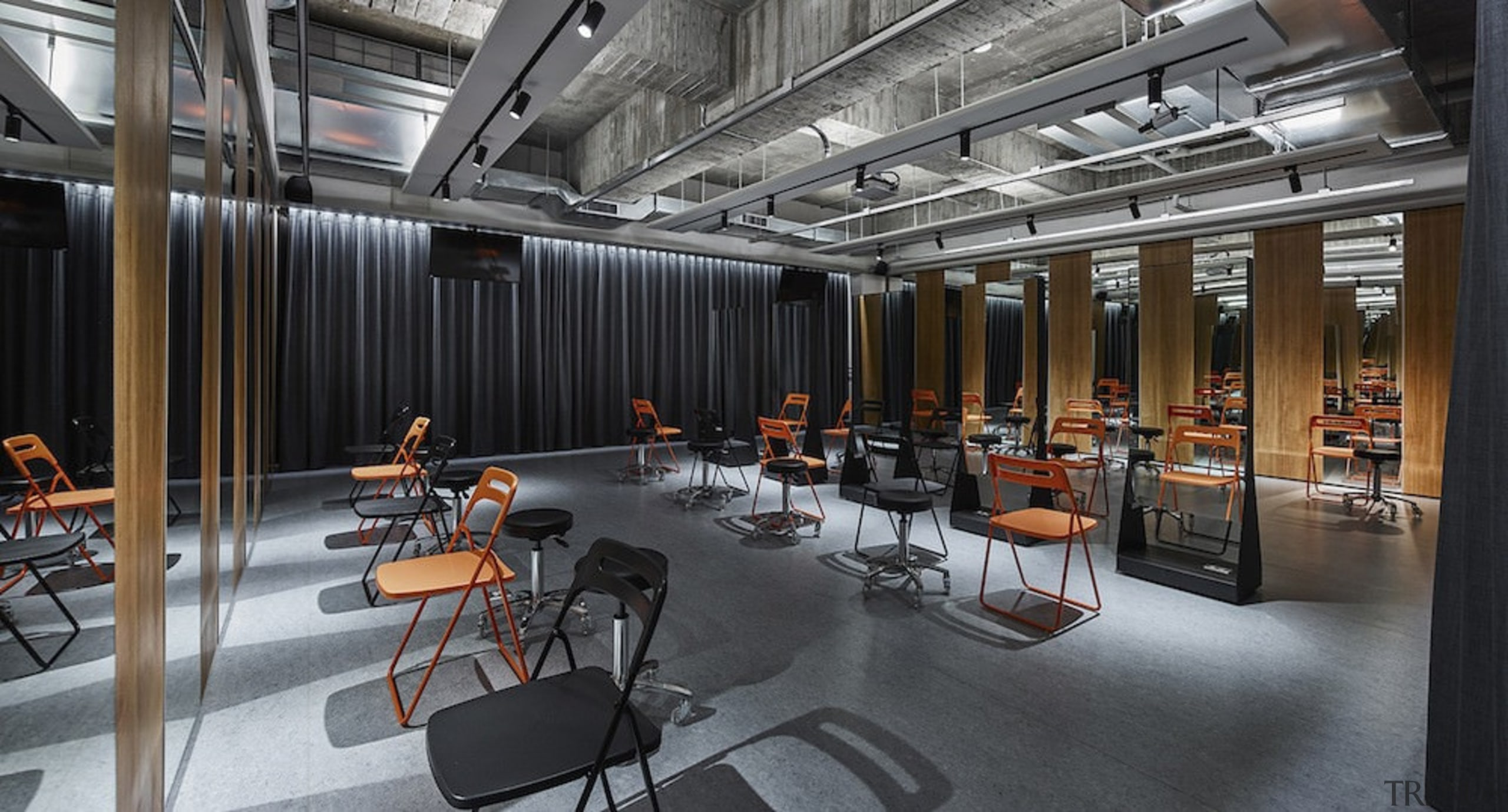 H Academy – Shi-Chieh Lu/CJ Studio - H interior design, black, gray
