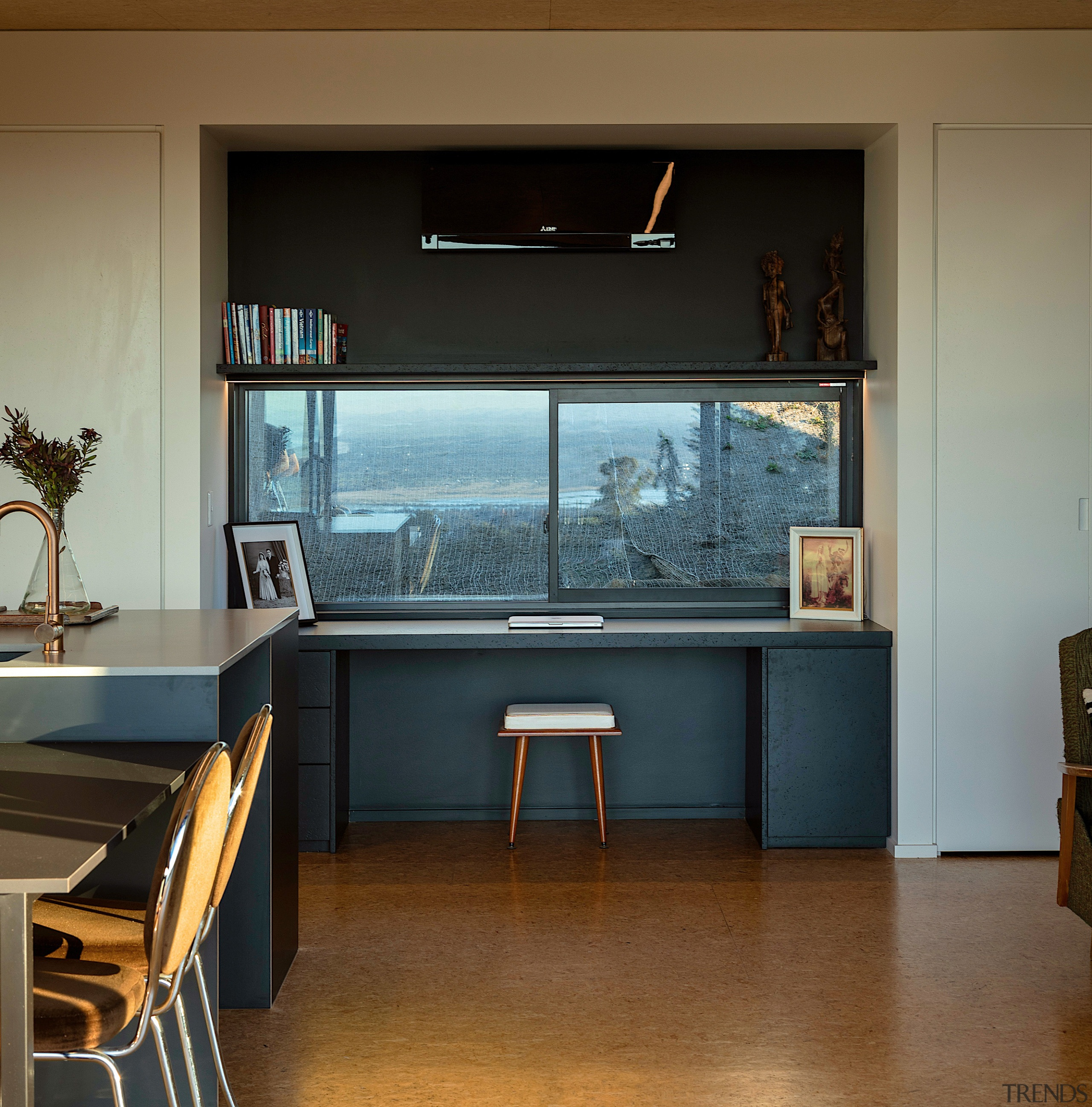 A study nook with a view to stop