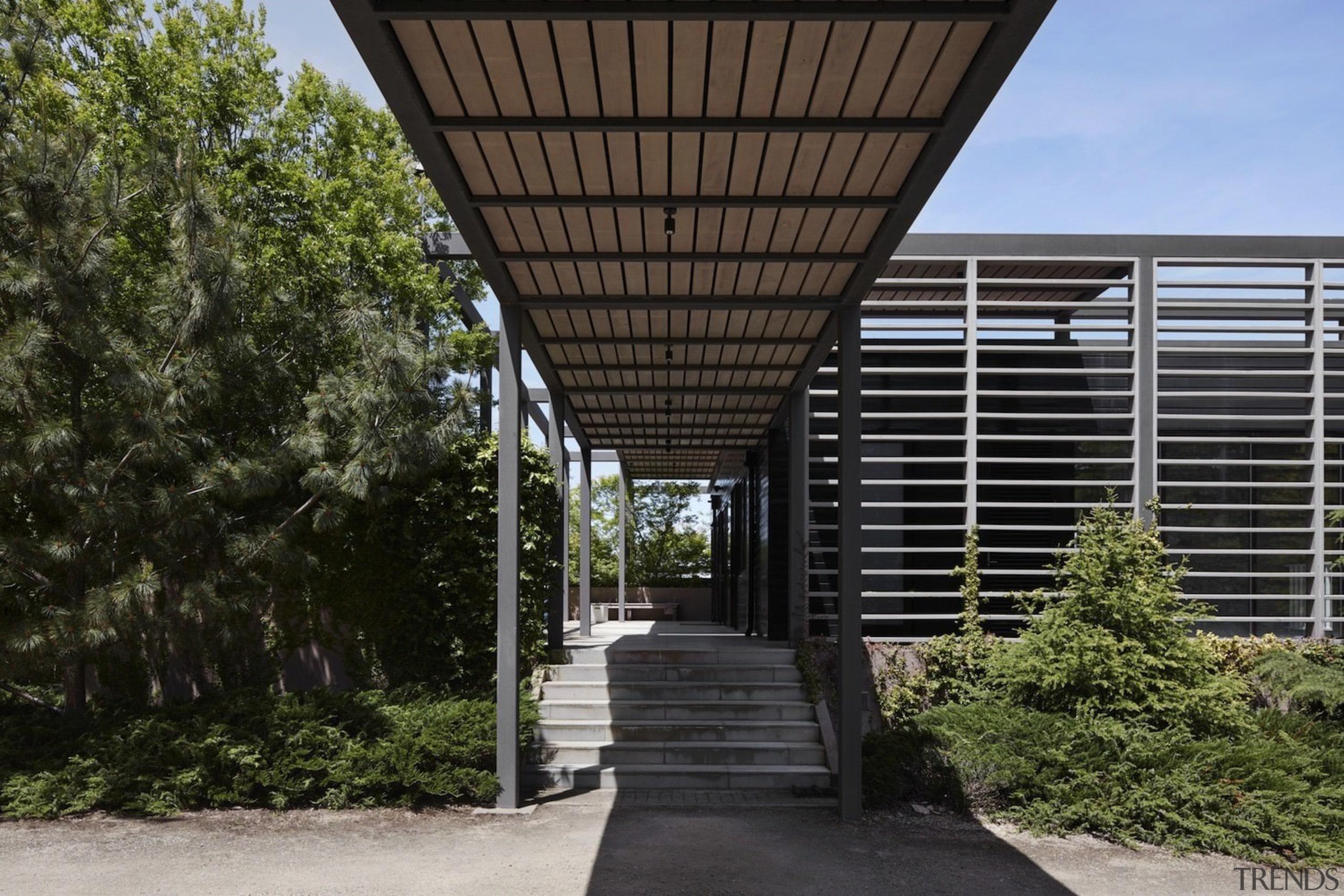 Architect: B.E Architecture architecture, facade, house, real estate, structure, walkway, black, brown
