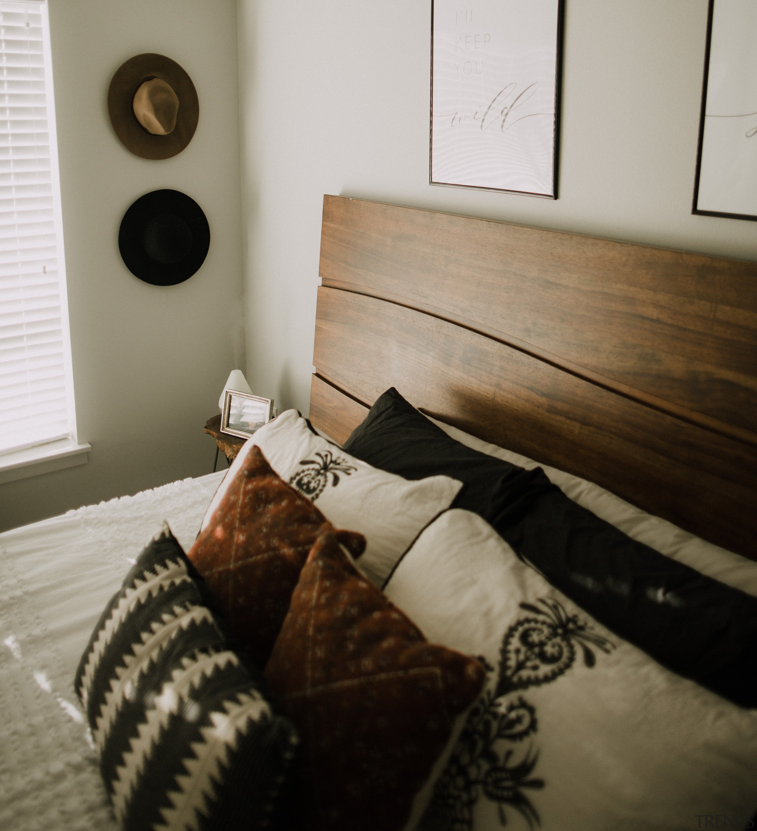 Pillows on bed -