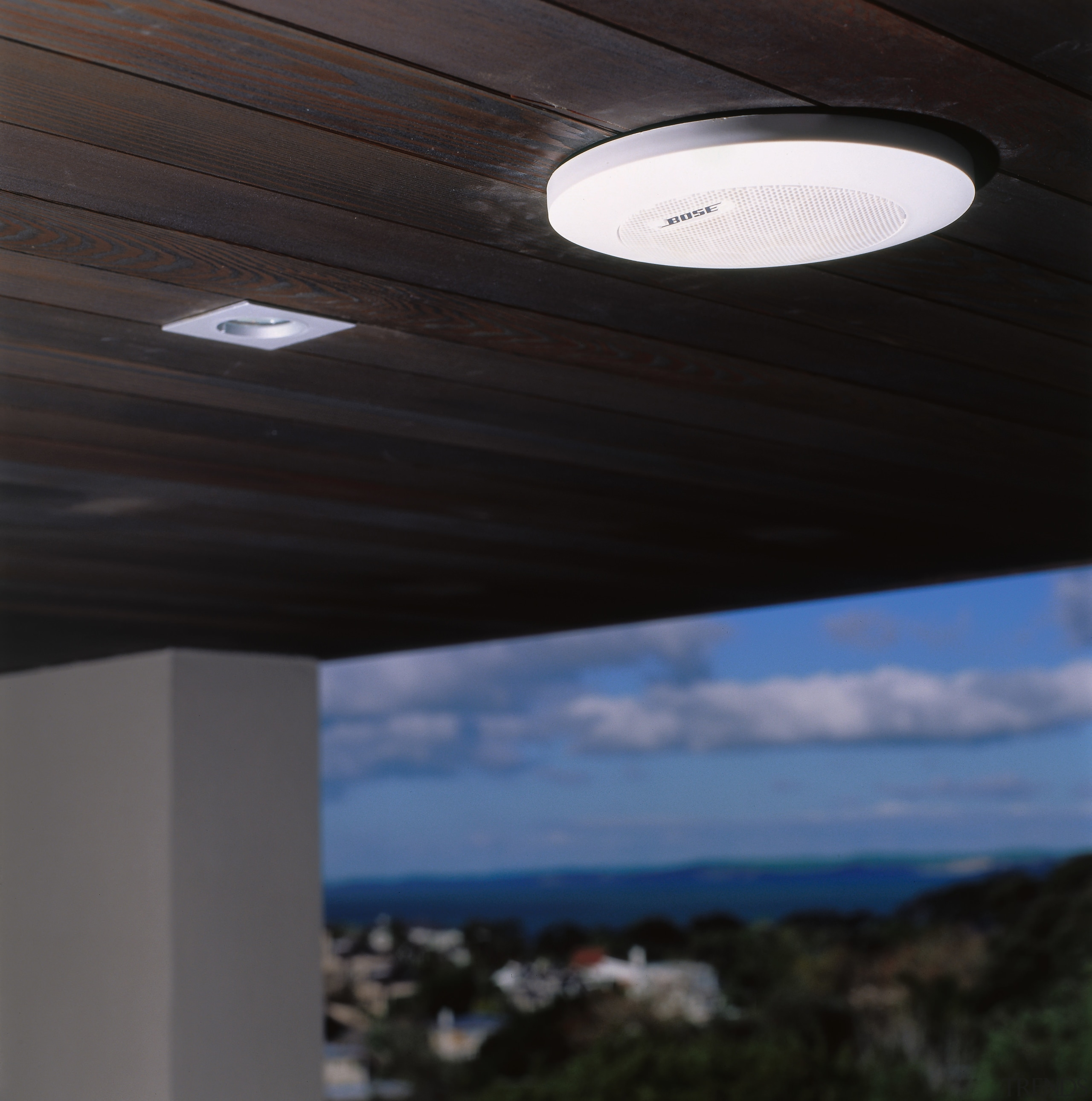view of the flush mounted , wether resistent architecture, ceiling, cloud, daylighting, daytime, lighting, sky, black