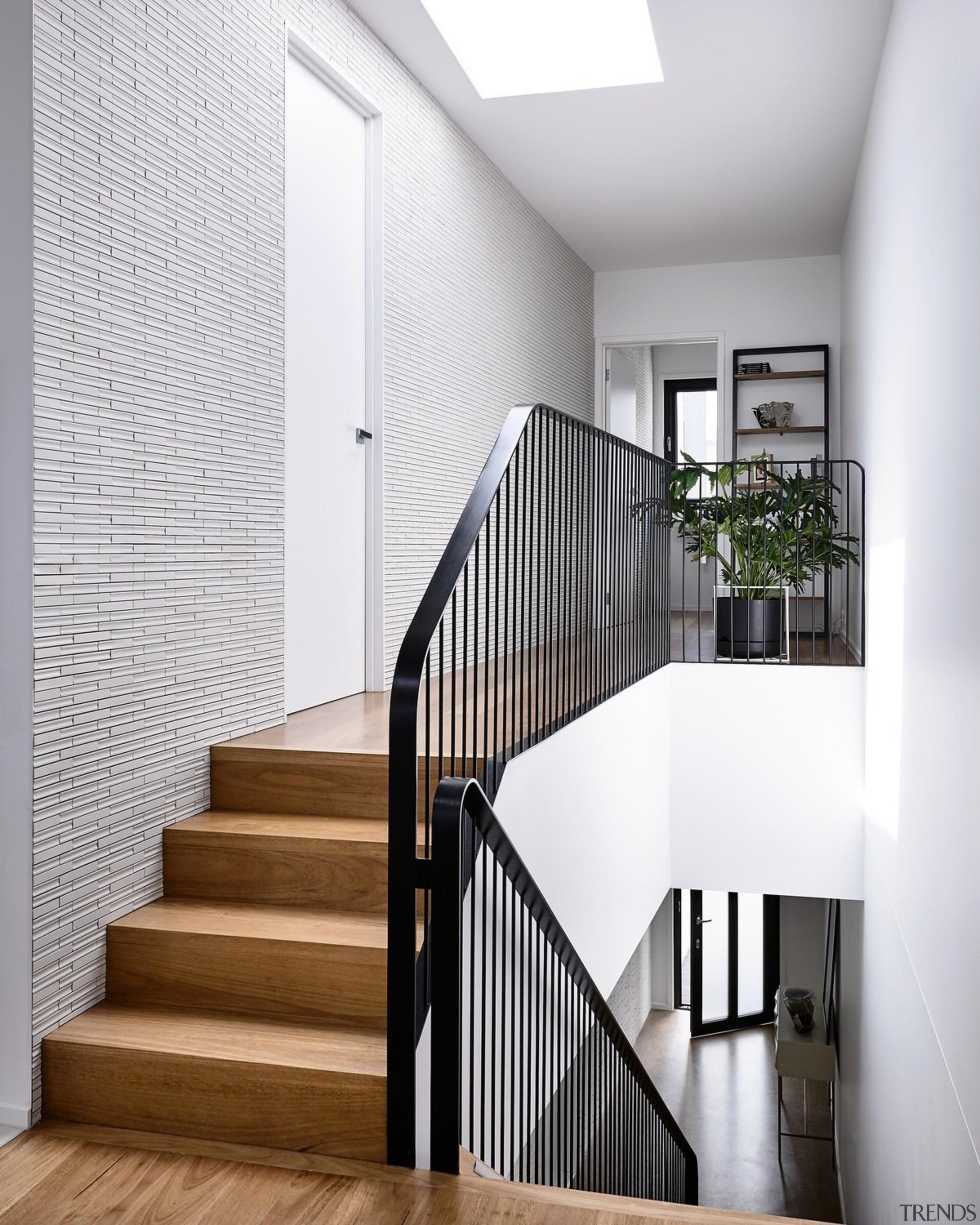 Black balustrades draw the eye - Black balustrades architecture, baluster, handrail, home, house, interior design, stairs, white