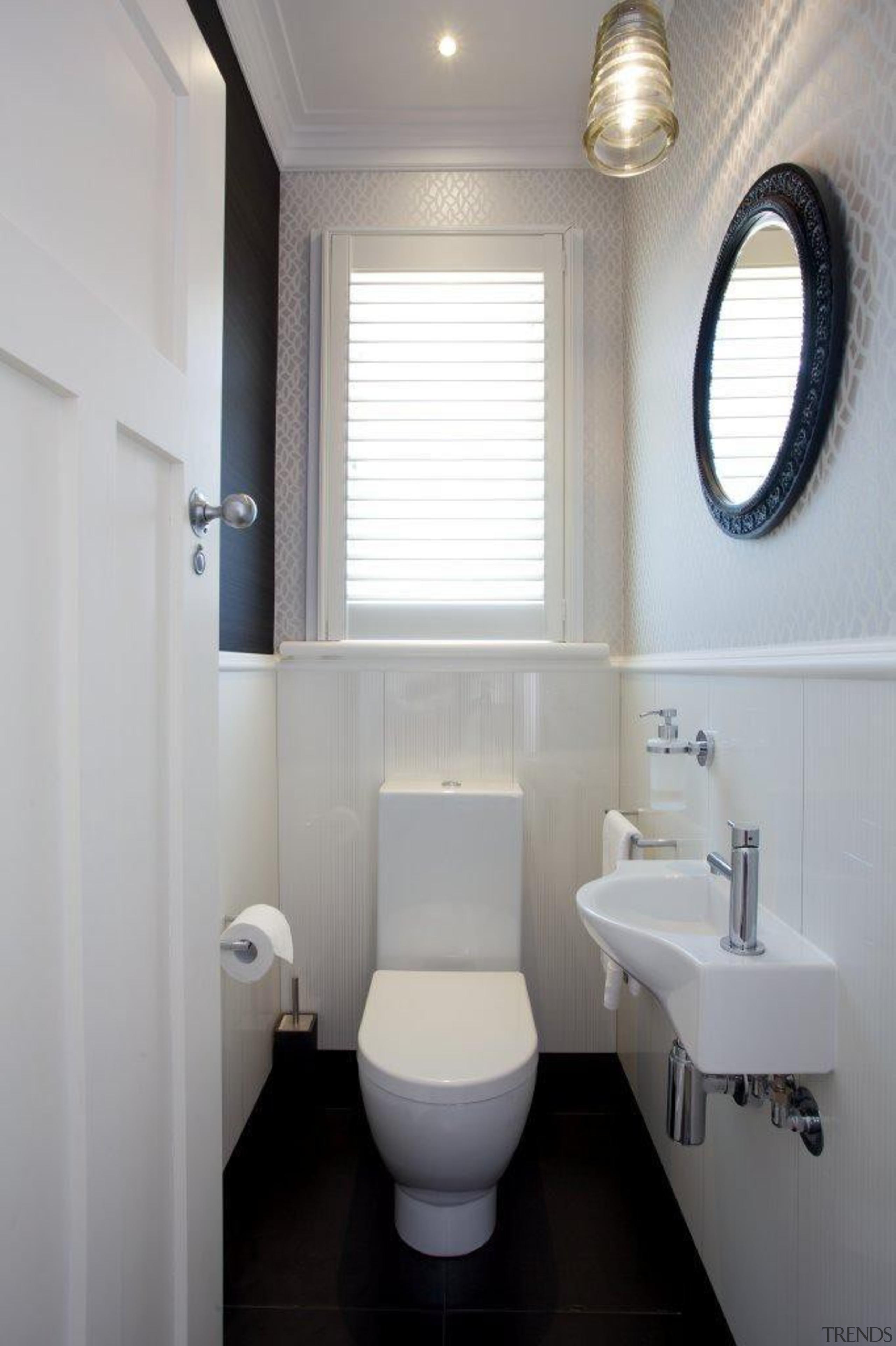 classical powder room.jpg - classical_powder_room.jpg - bathroom | bathroom, bidet, daylighting, home, interior design, plumbing fixture, product design, property, real estate, room, sink, toilet, toilet seat, window, gray
