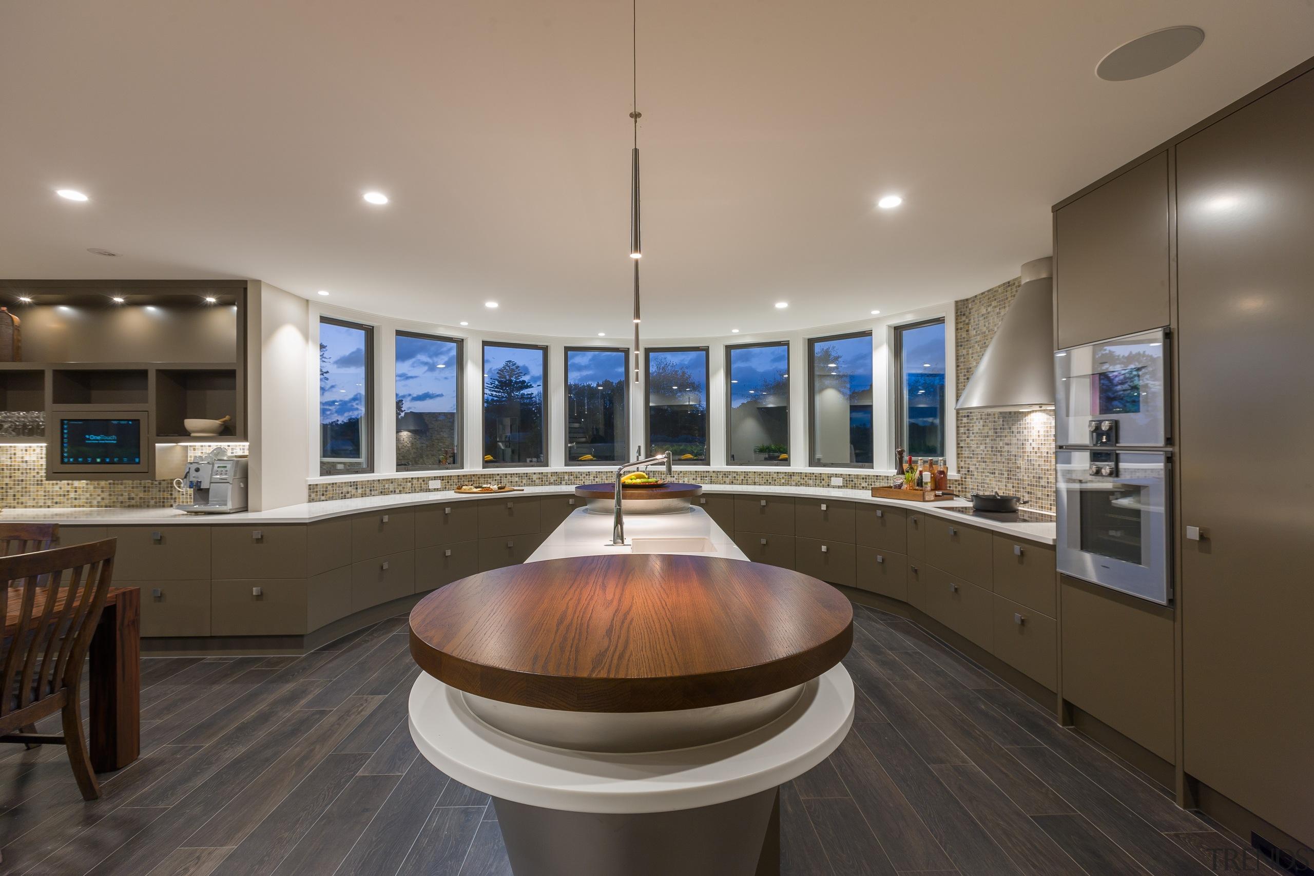In this kitchen by Celia Visser Design, the countertop, interior design, kitchen, real estate, gray, black