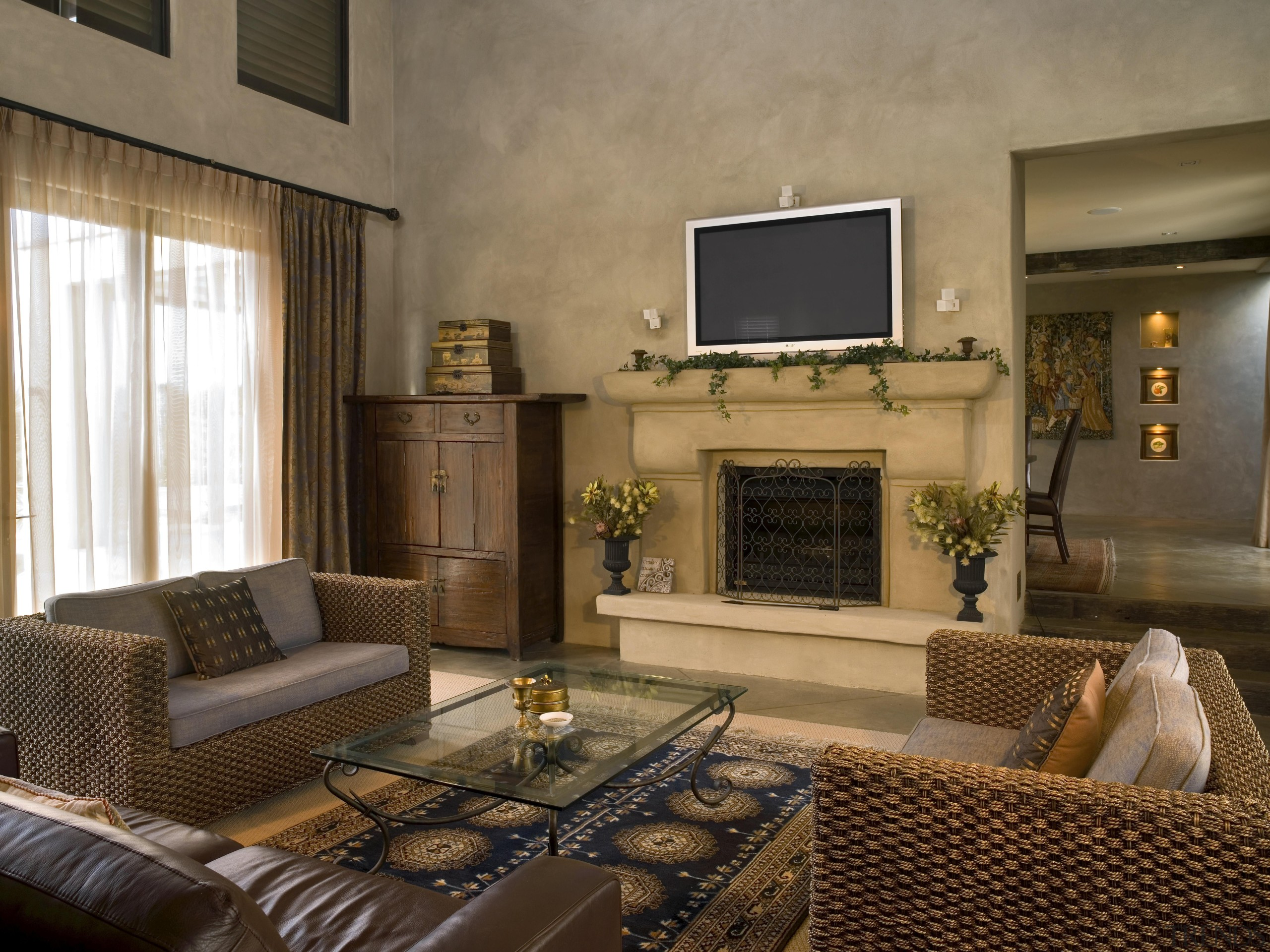 173mangawhai 16.jpg - 173mangawhai_16.jpg - ceiling   fireplace ceiling, fireplace, home, interior design, living room, property, real estate, room, brown