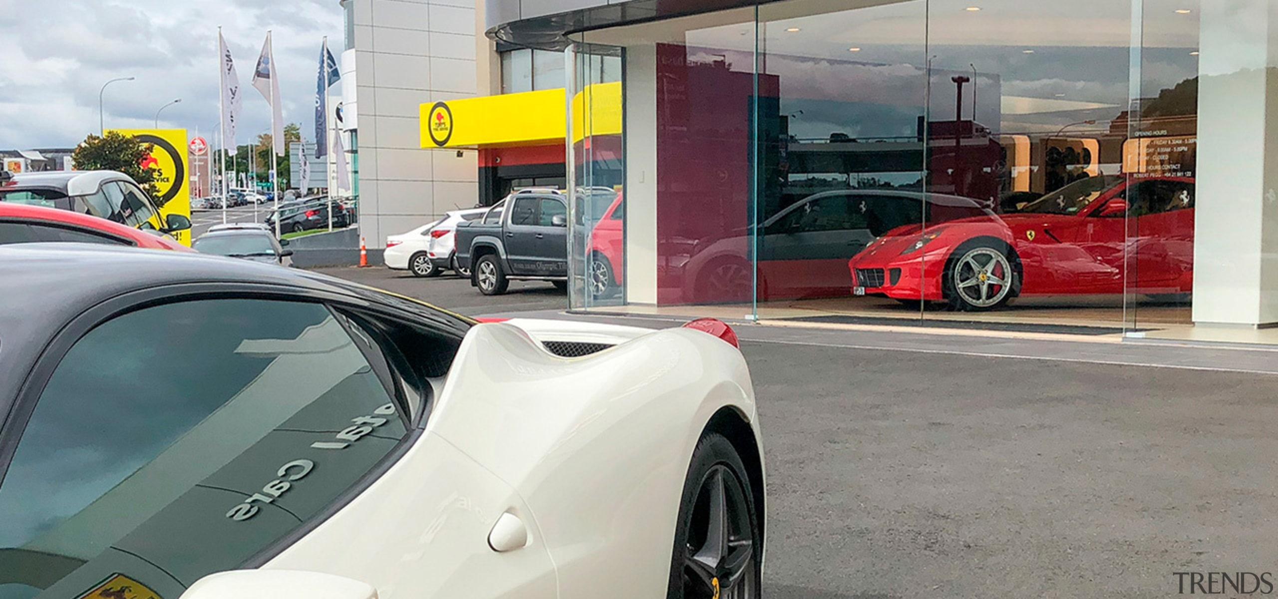 Ferrari Showroom 5 - automotive design | car automotive design, car, coupé, land vehicle, luxury vehicle, race car, sports car, supercar, vehicle, gray, white
