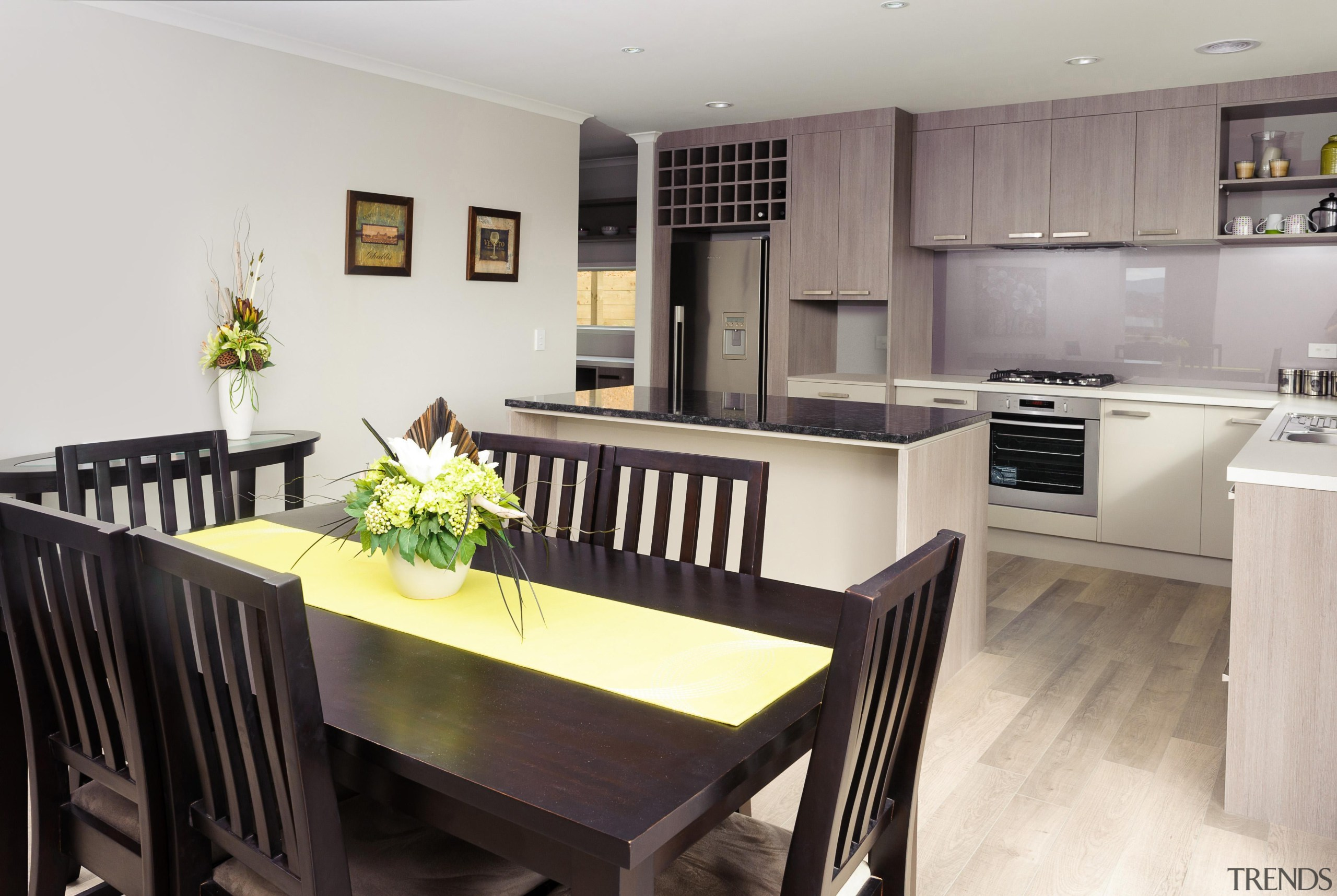 Dining areaFor more information, please visit www.gjgardner.co.nz countertop, dining room, interior design, kitchen, property, real estate, room, gray